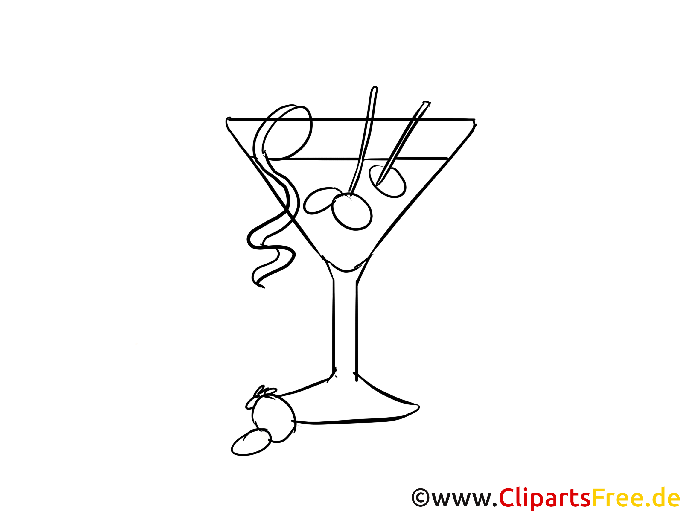 Cocktail dessin gratuit à imprimer