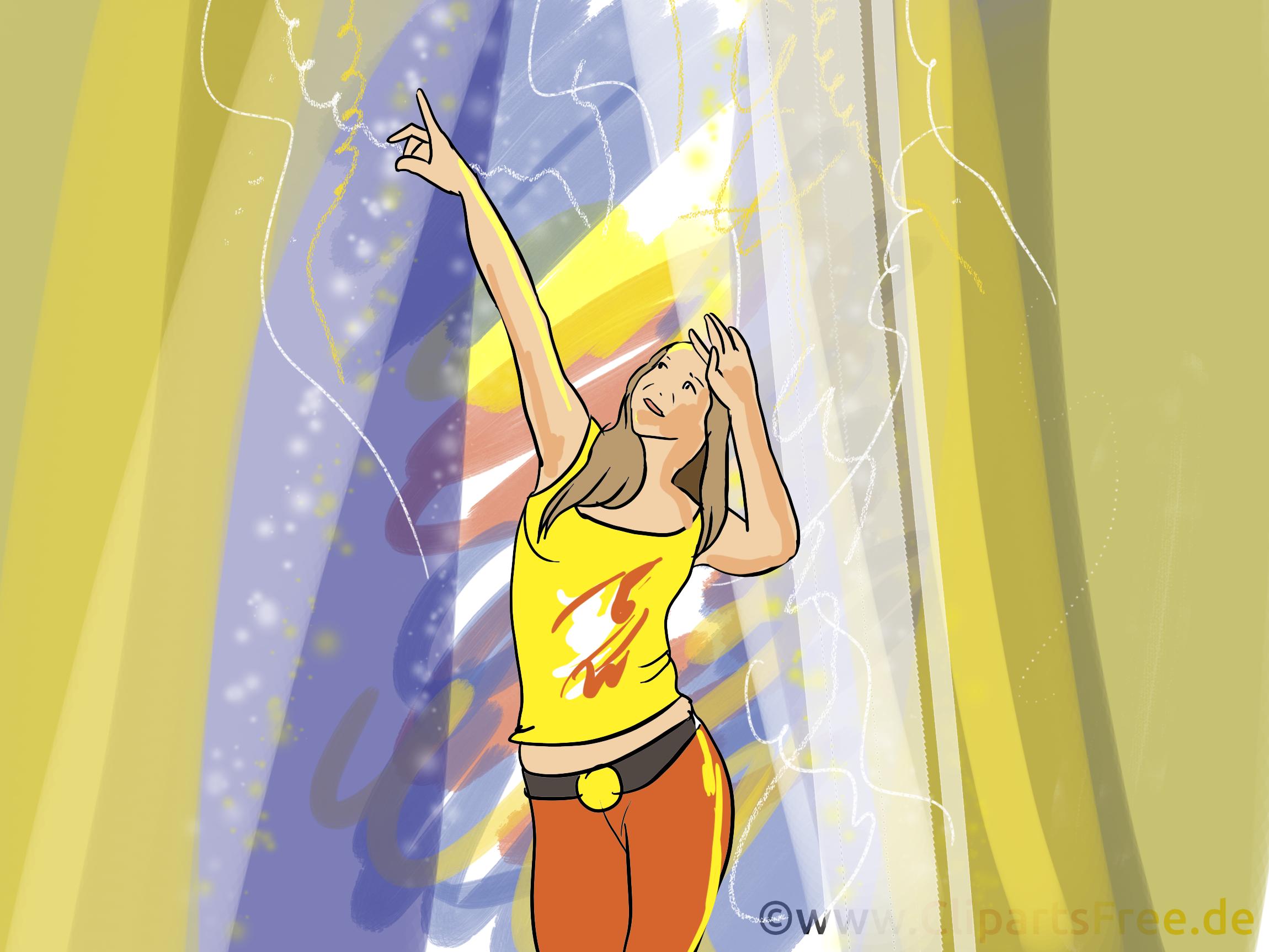 Danse dessin - Disco cliparts à télécharger