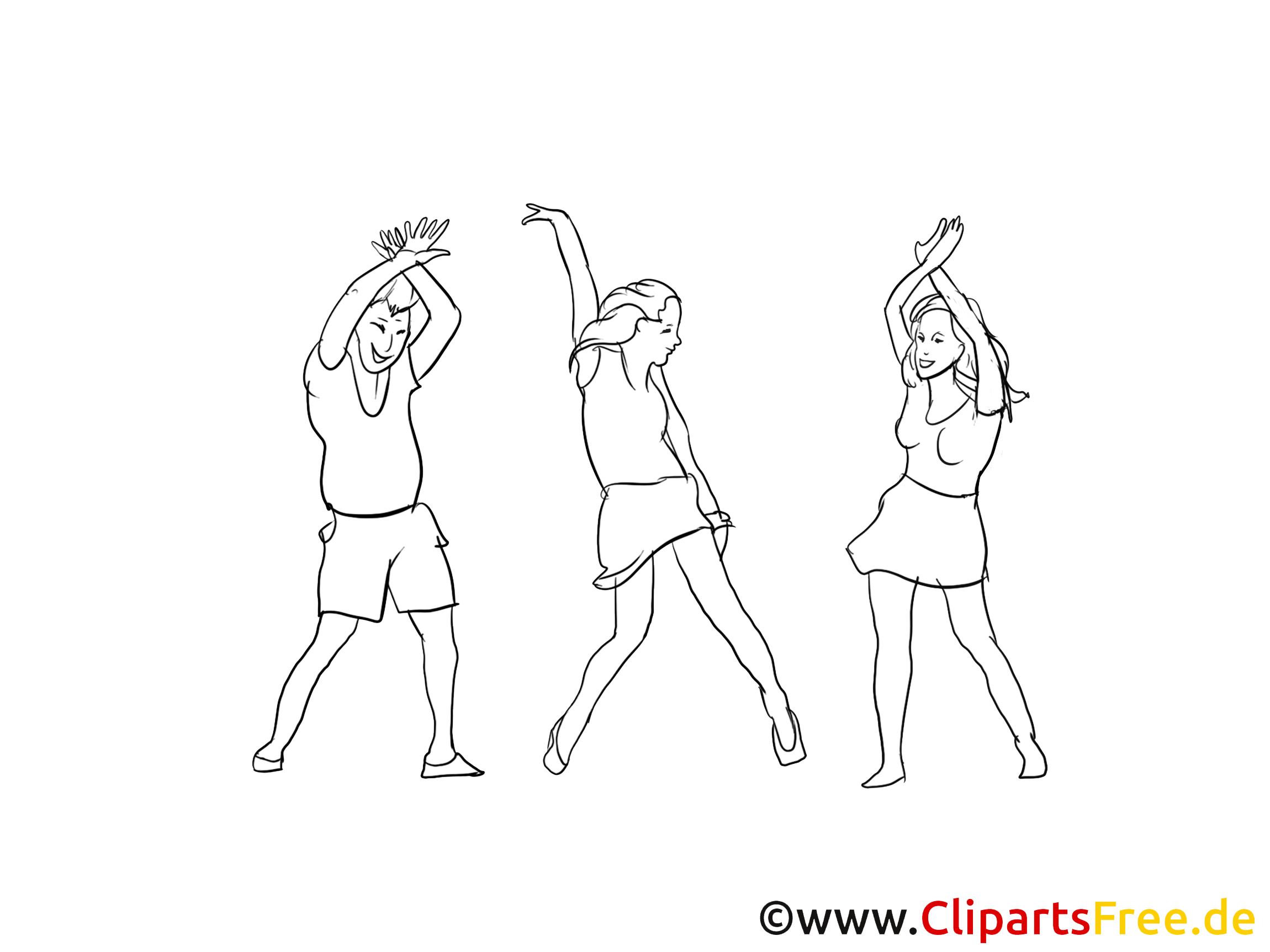 Danseuses dessin gratuit à colorier