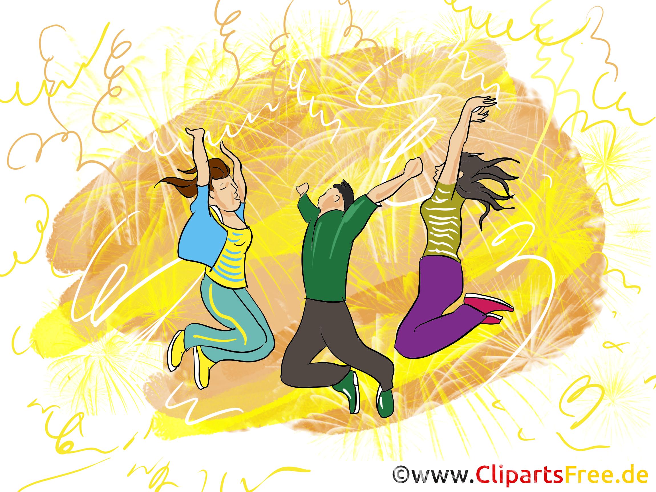Soirée clip arts gratuits - Disco illustrations