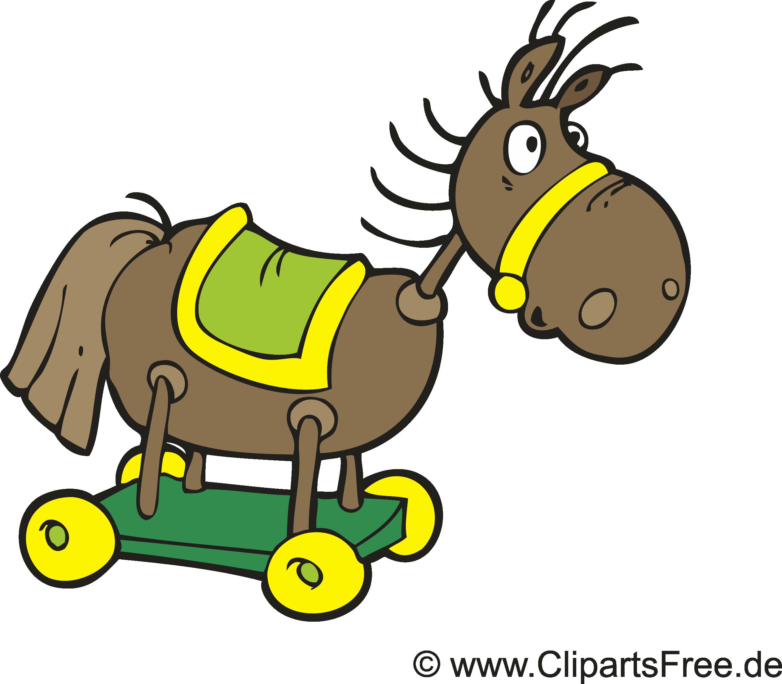 Cheval en bois images gratuites – Ferme clipart