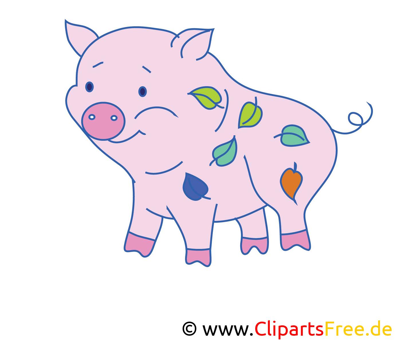 Dessin cochon – Ferme cliparts à télécharger