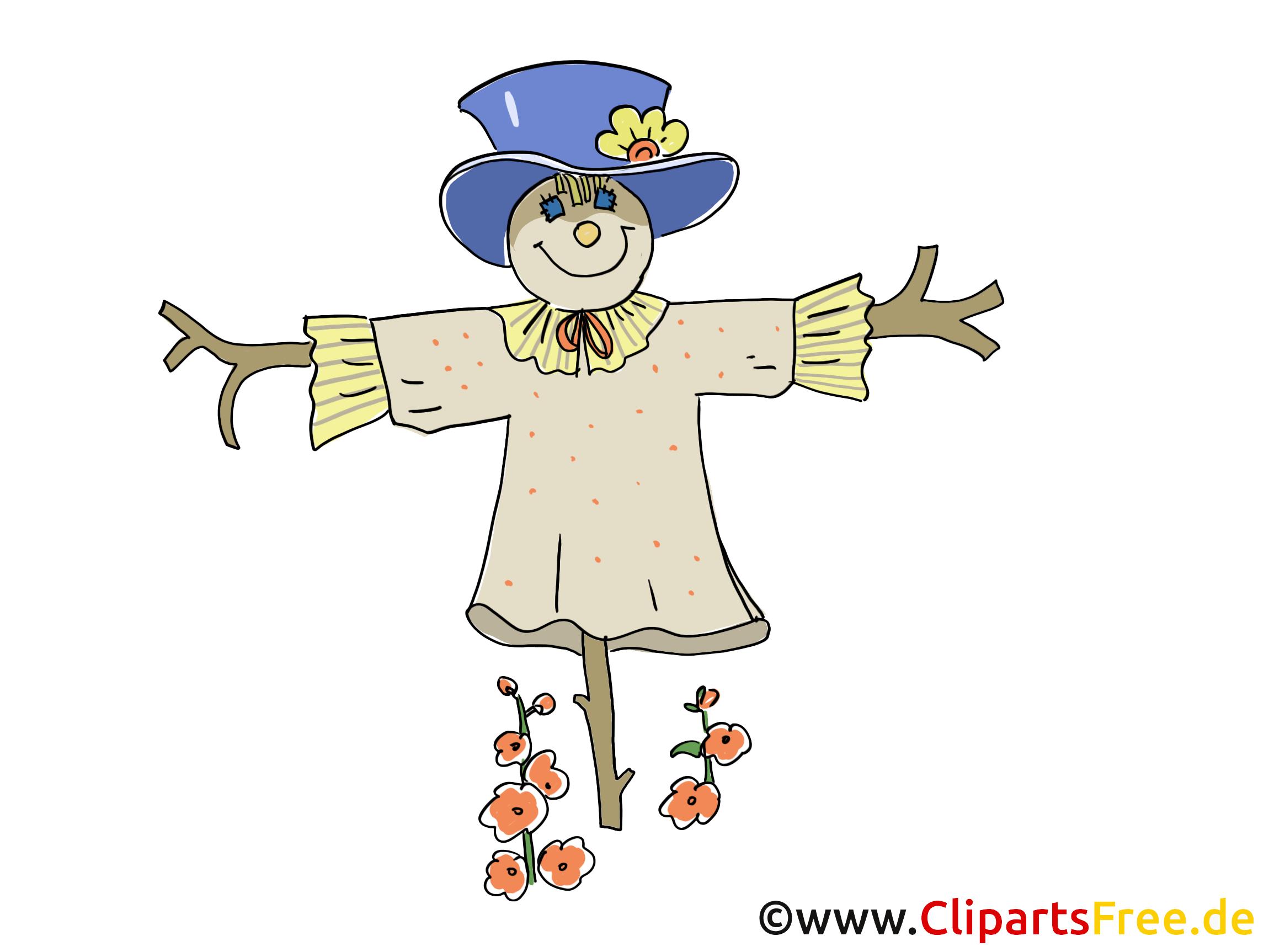 Épouvantail clip arts gratuits – Ferme illustrations