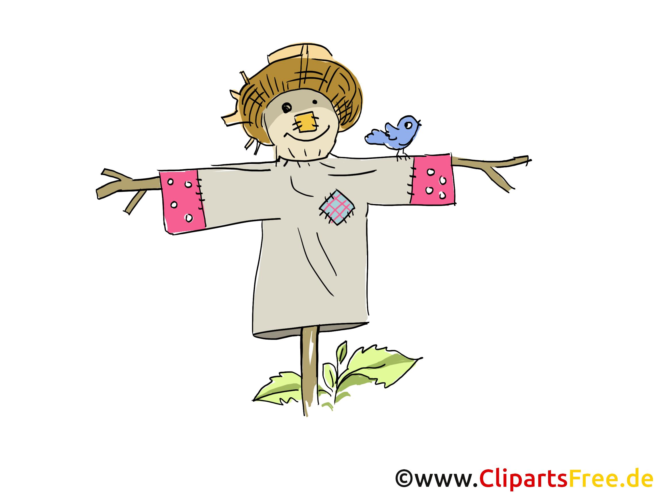 Épouvantail dessin – Ferme clip arts gratuits