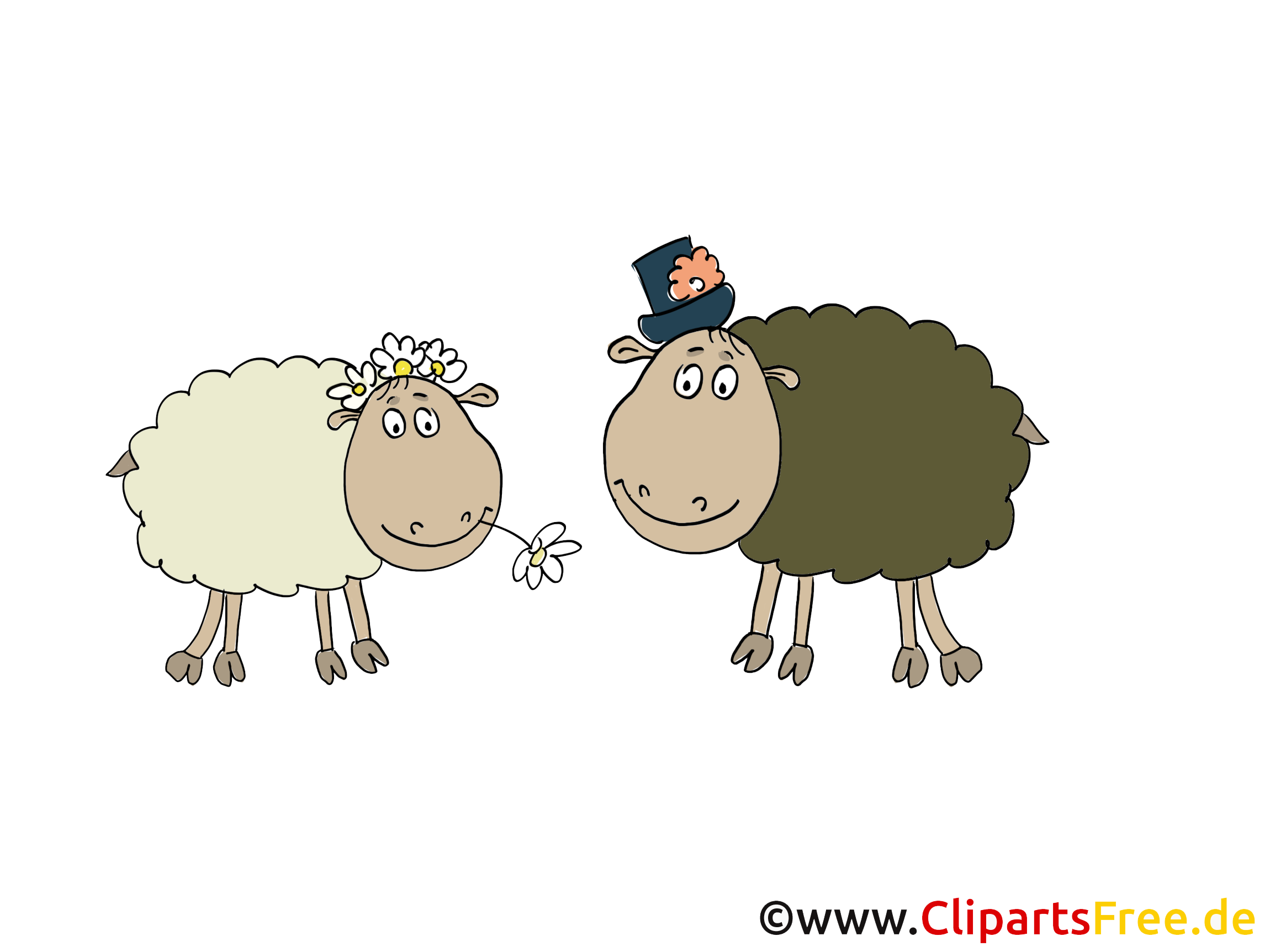 Moutons ferme illustration à télécharger gratuite