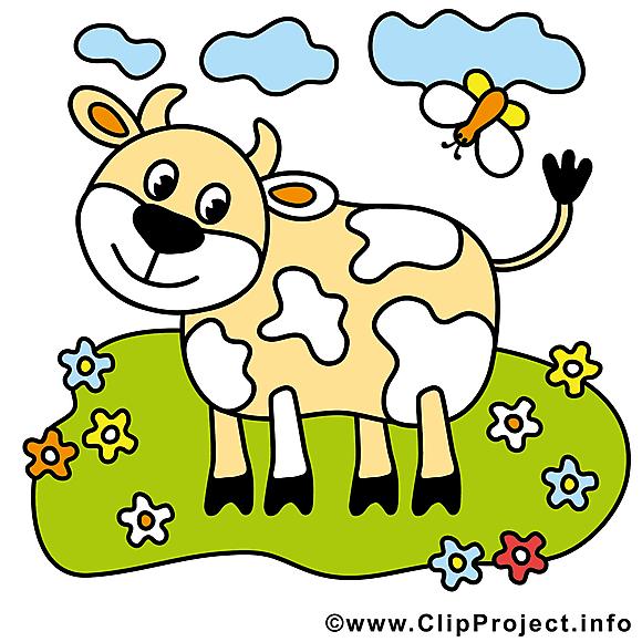 Vache image gratuite – Ferme illustration
