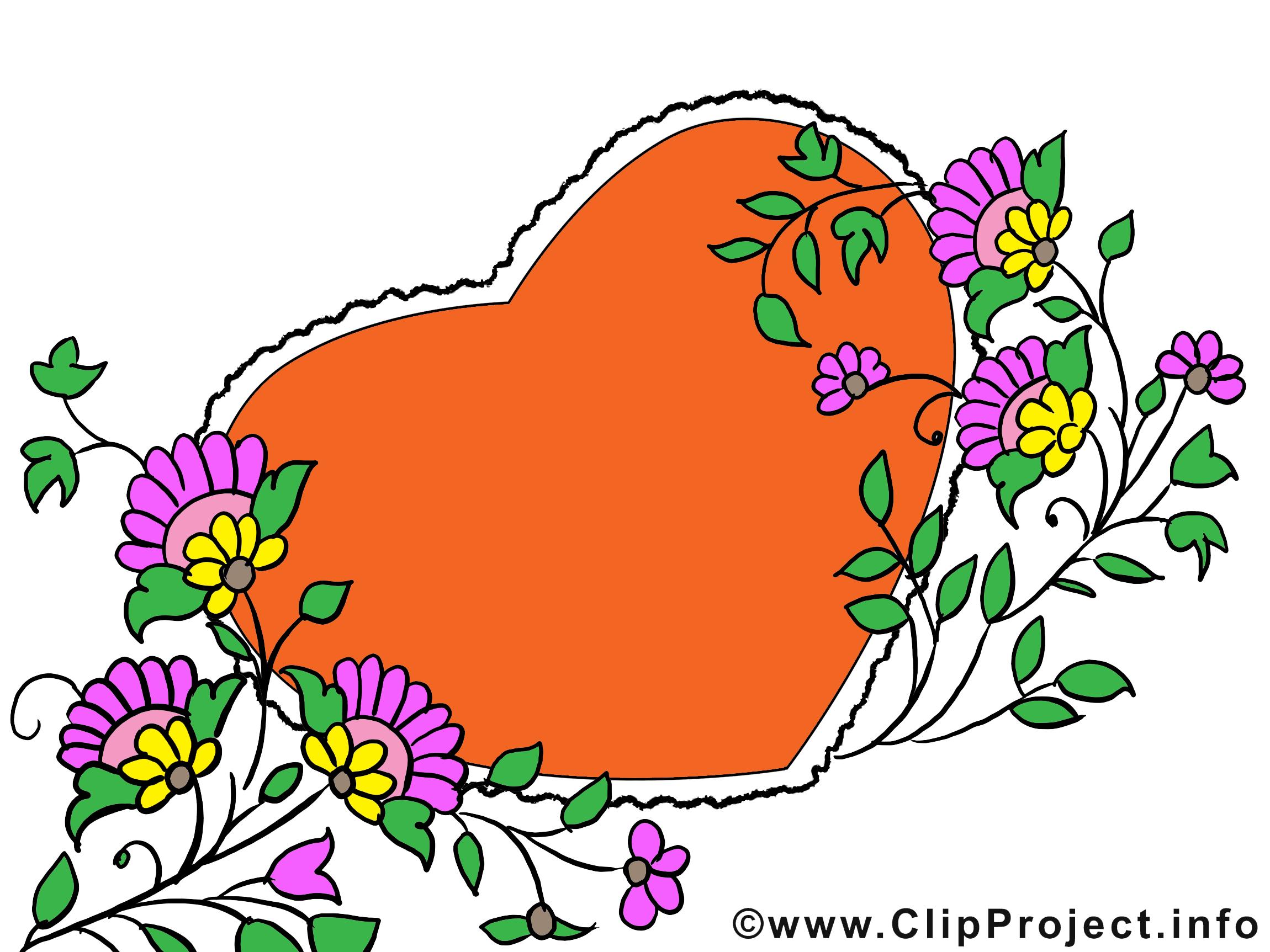 Coeur clip arts gratuits – Fête des Mères illustrations