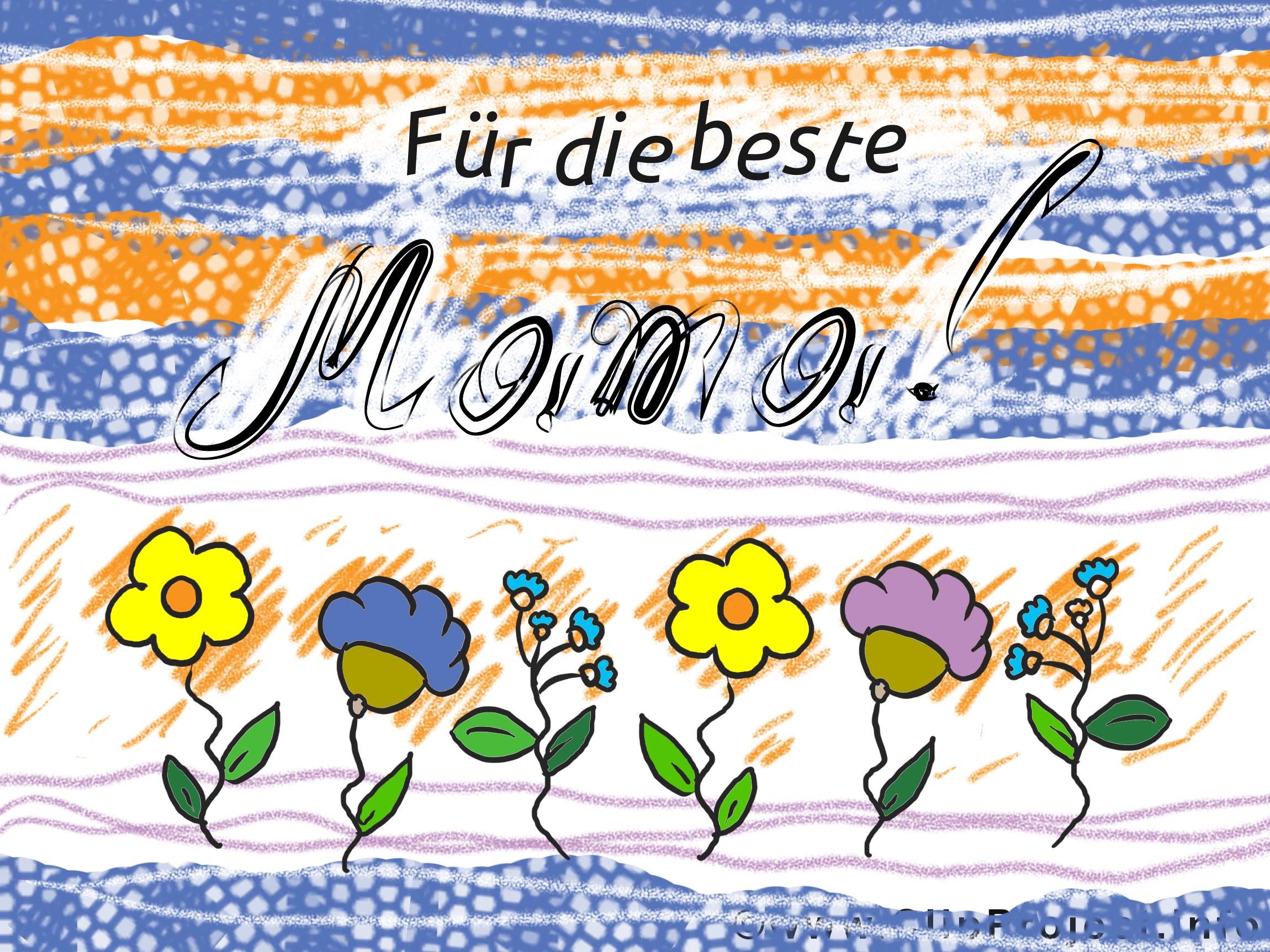 Fête des Mères clip art allemand gratuite