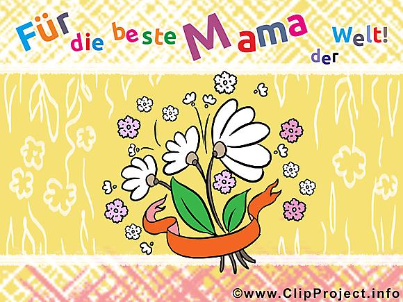 Favori Fête des Mères illustration allemand gratuite clipart - Fête des  SU76