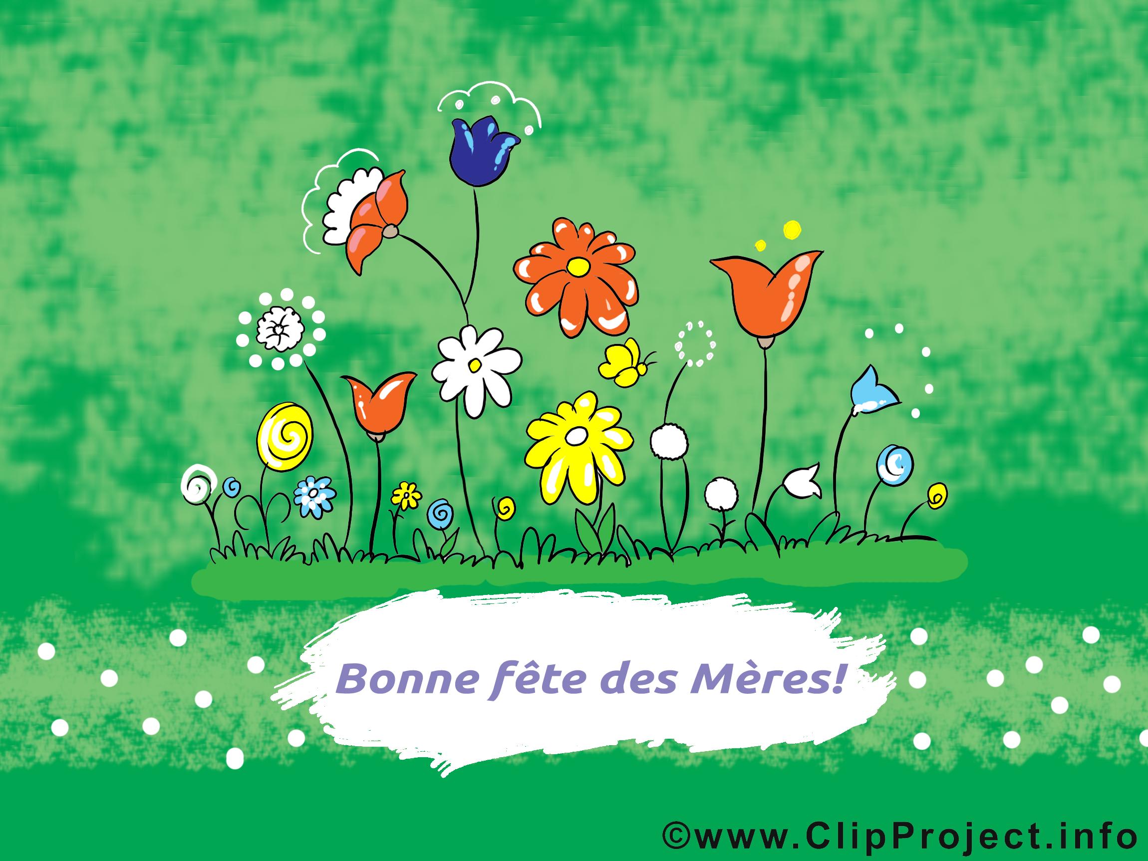 Fleurs dessin – Fête des Mères clip arts gratuits
