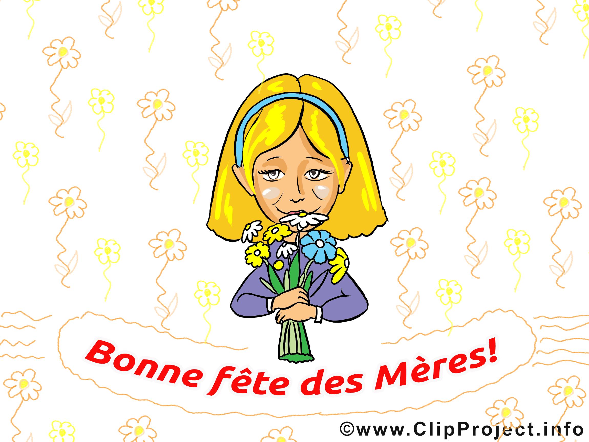 Illustration gratuite carte – Fête des Mères clipart
