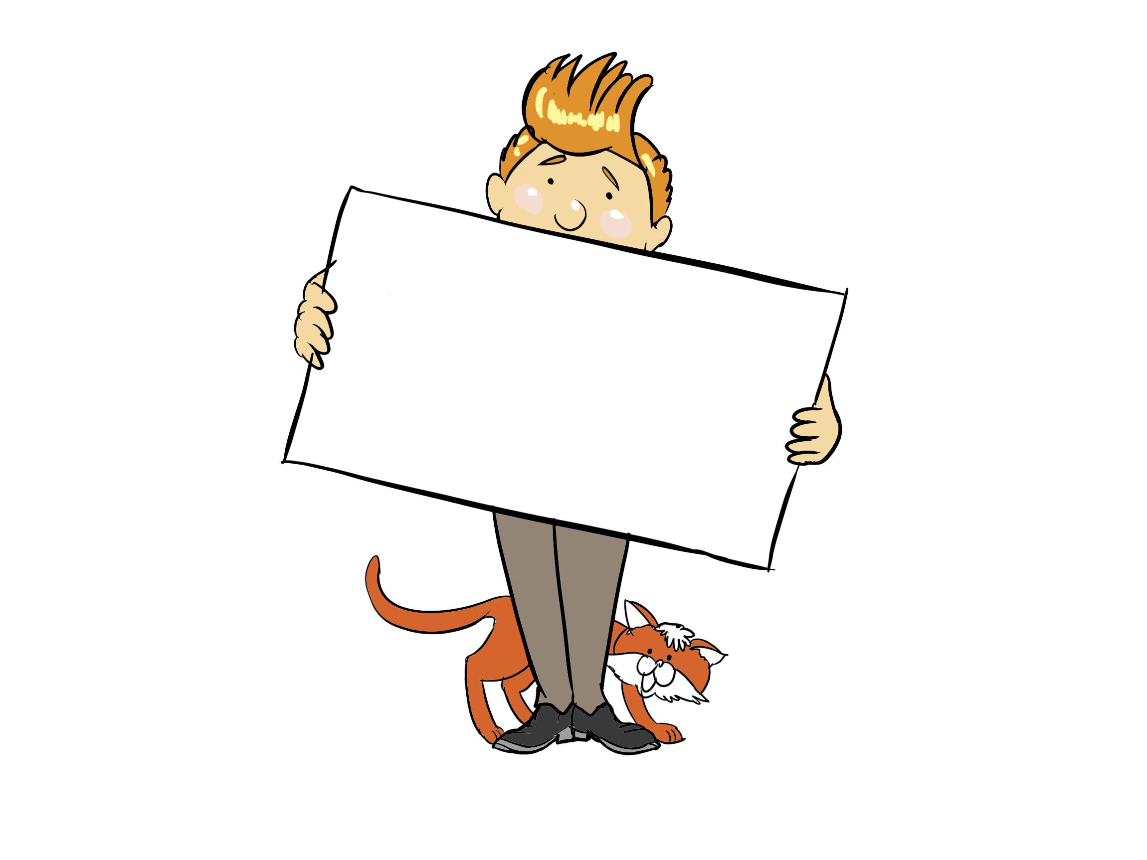 Dessin homme chat – Finances à télécharger