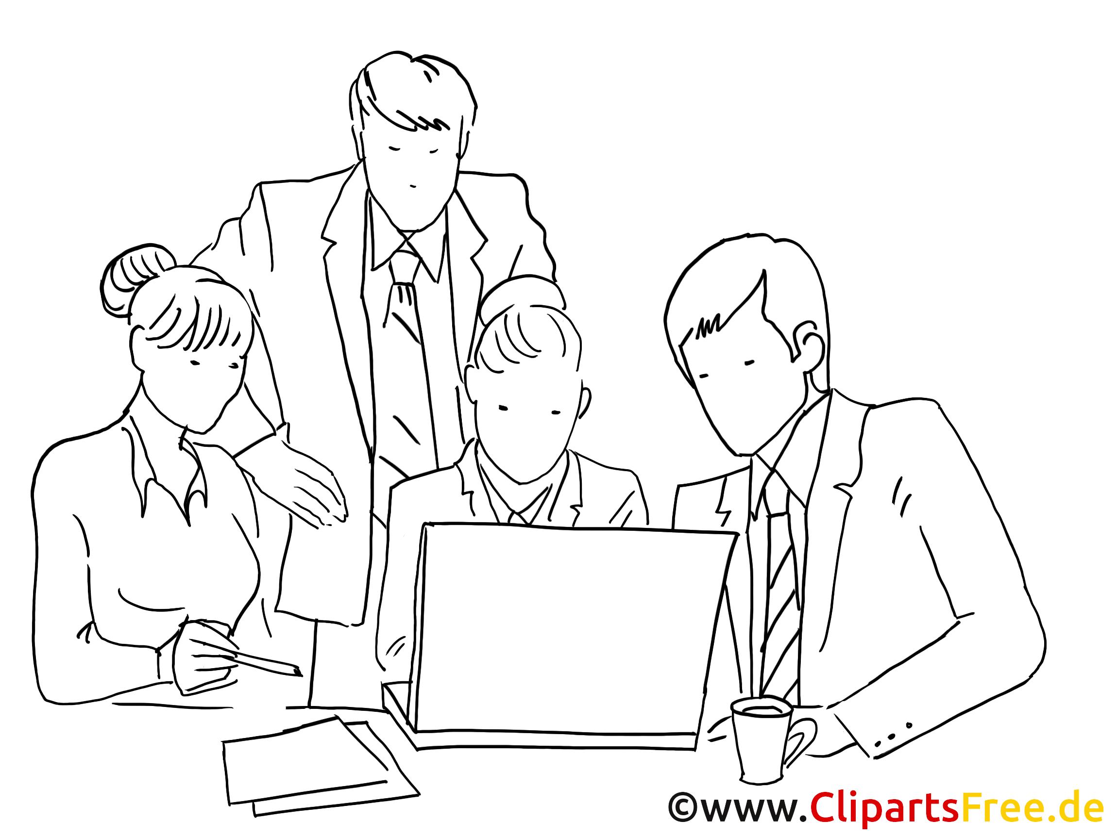 Équipe image à colorier – Finances clipart
