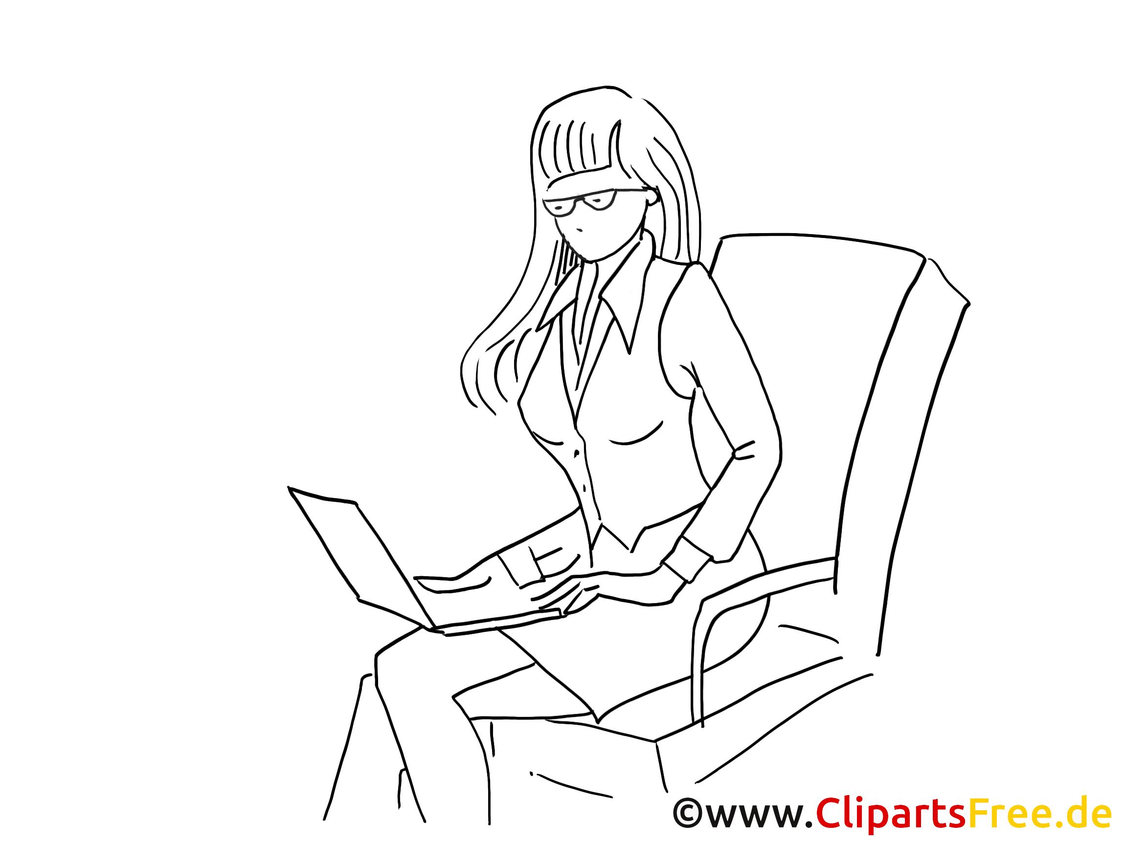 Femme d'affaire coloriage – Finances clipart