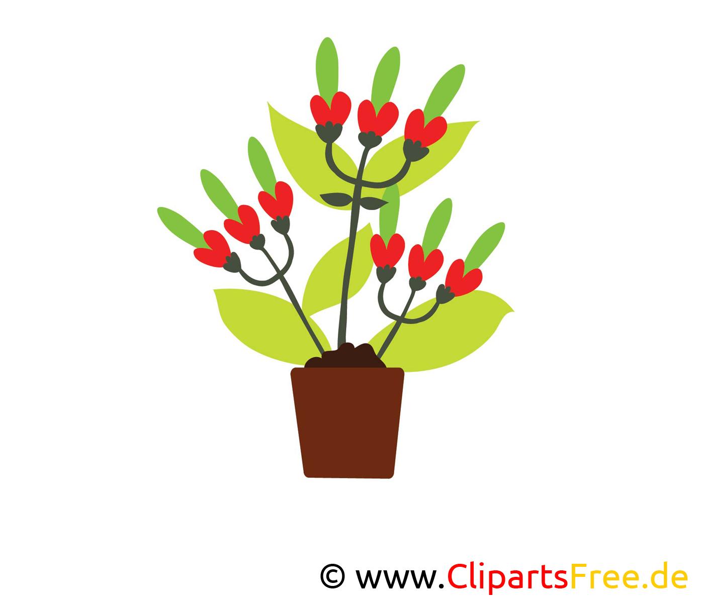 Bouquet clip art gratuit – Fleurs dessin