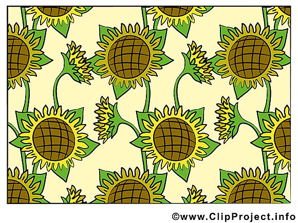 Fonds d'écran clip arts gratuits – Fleurs illustrations