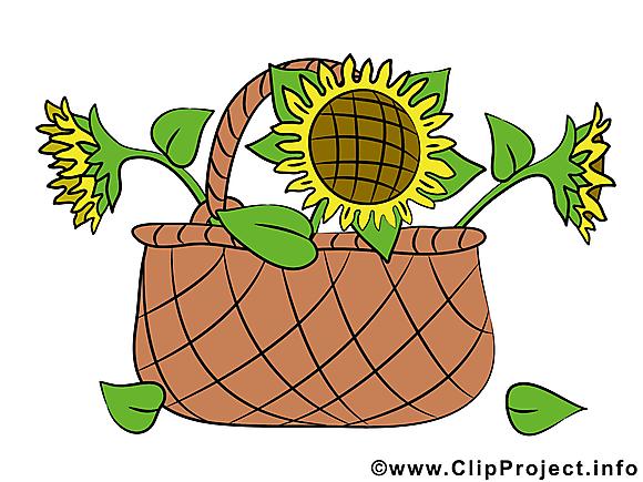 Panier clipart – Fleurs dessins gratuits