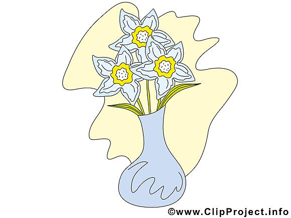 Vase image gratuite – Fleurs illustration