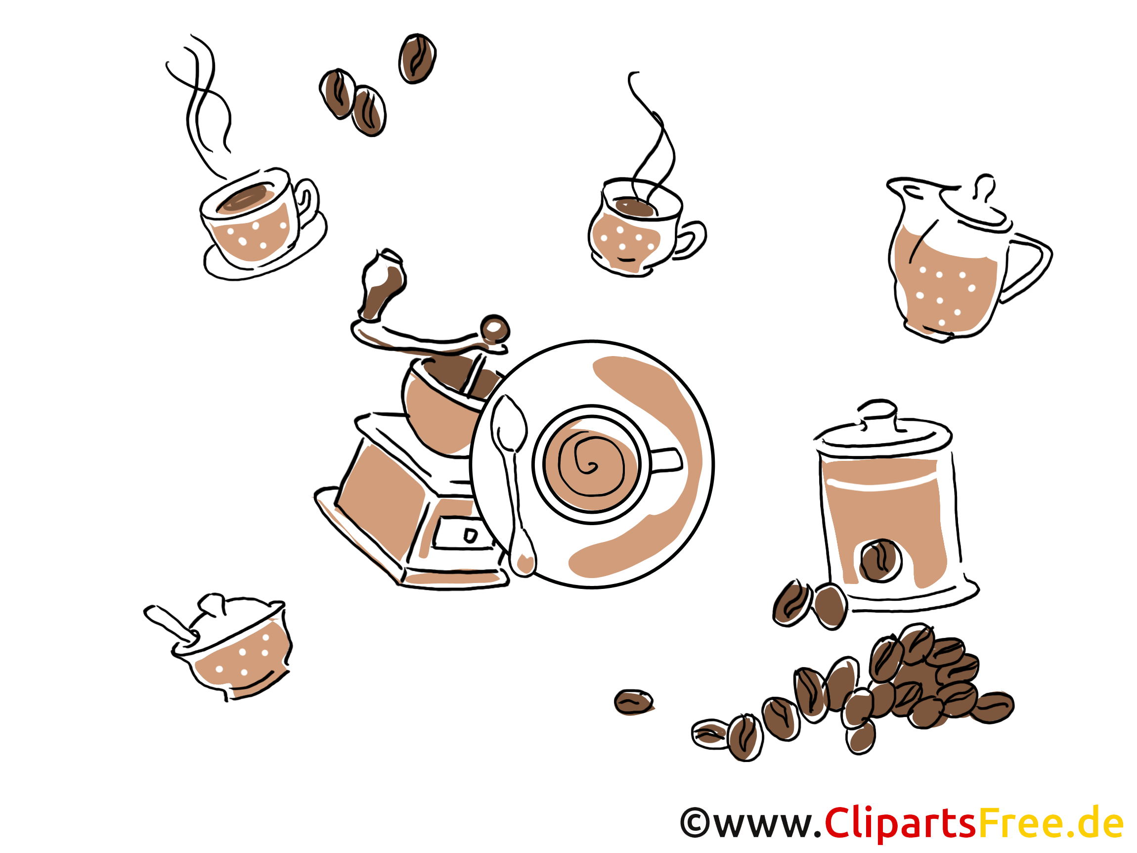 Café dessin - Fonds d'écran images