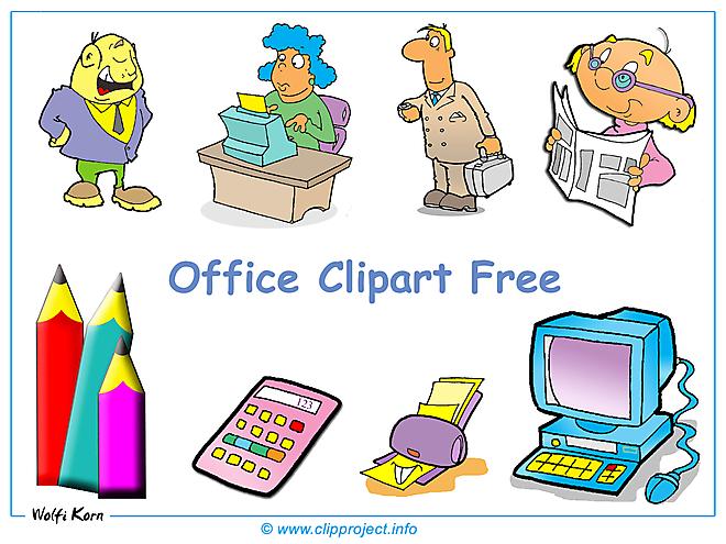 Office clip art fond d'écran gratuit