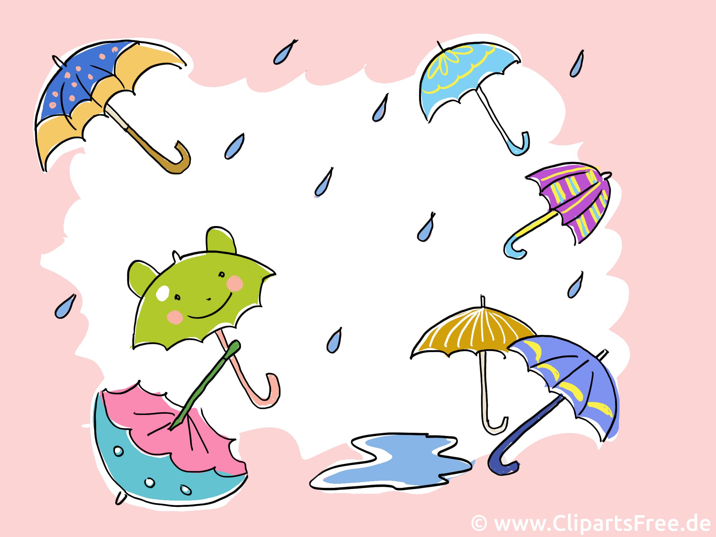 Parapluies illustration - Fonds d'écran clipart