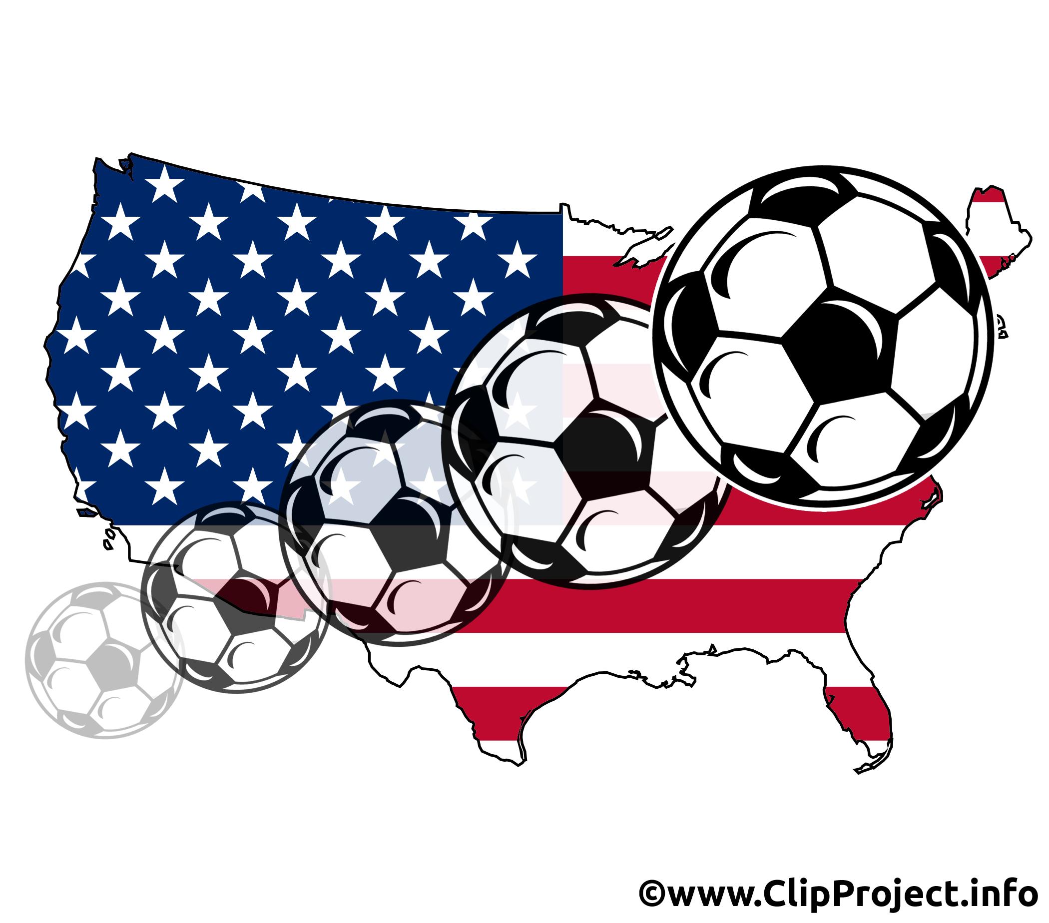 Football images cliparts - Amérique image