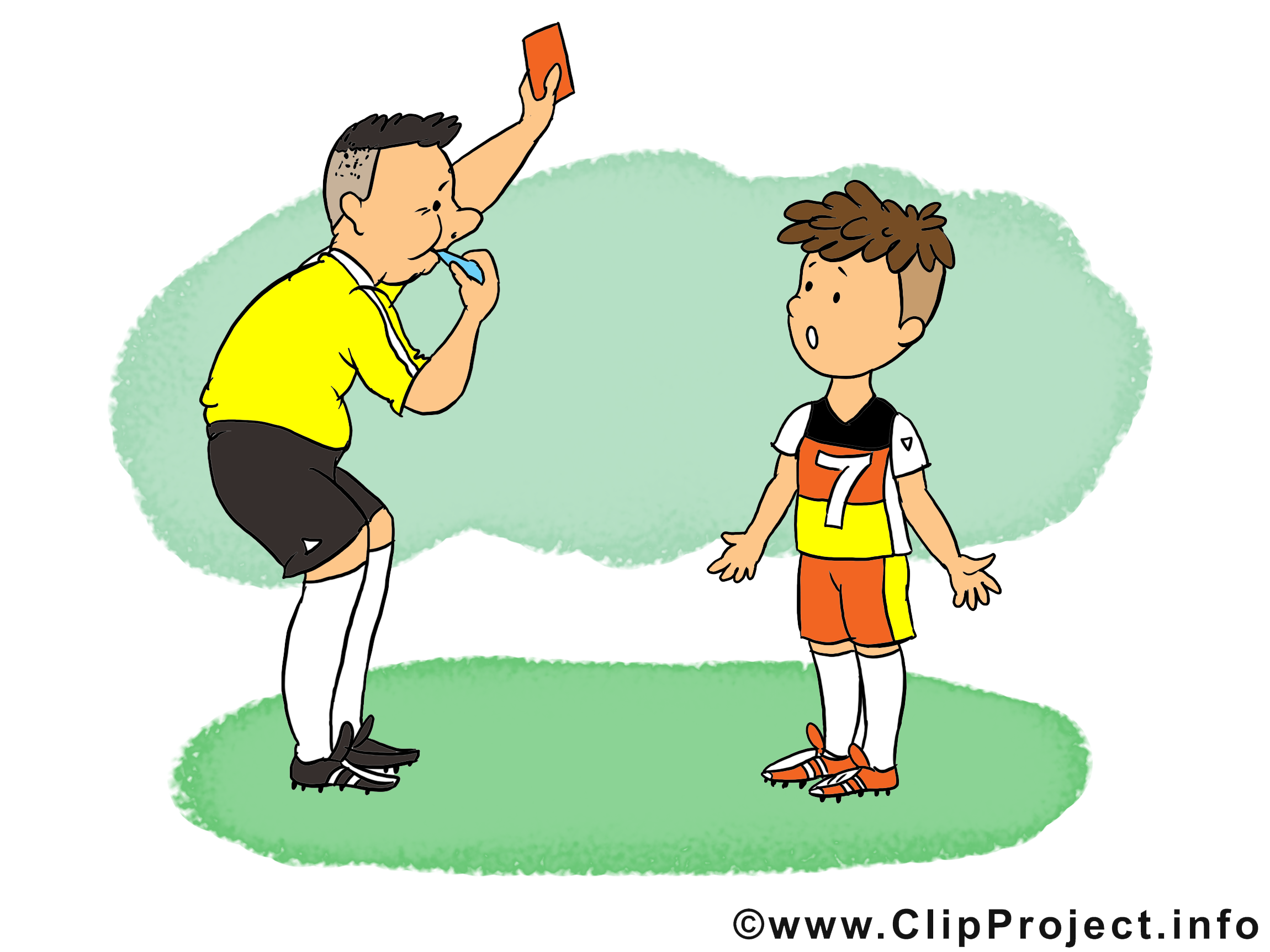 Arbitre clipart - Football dessins gratuits