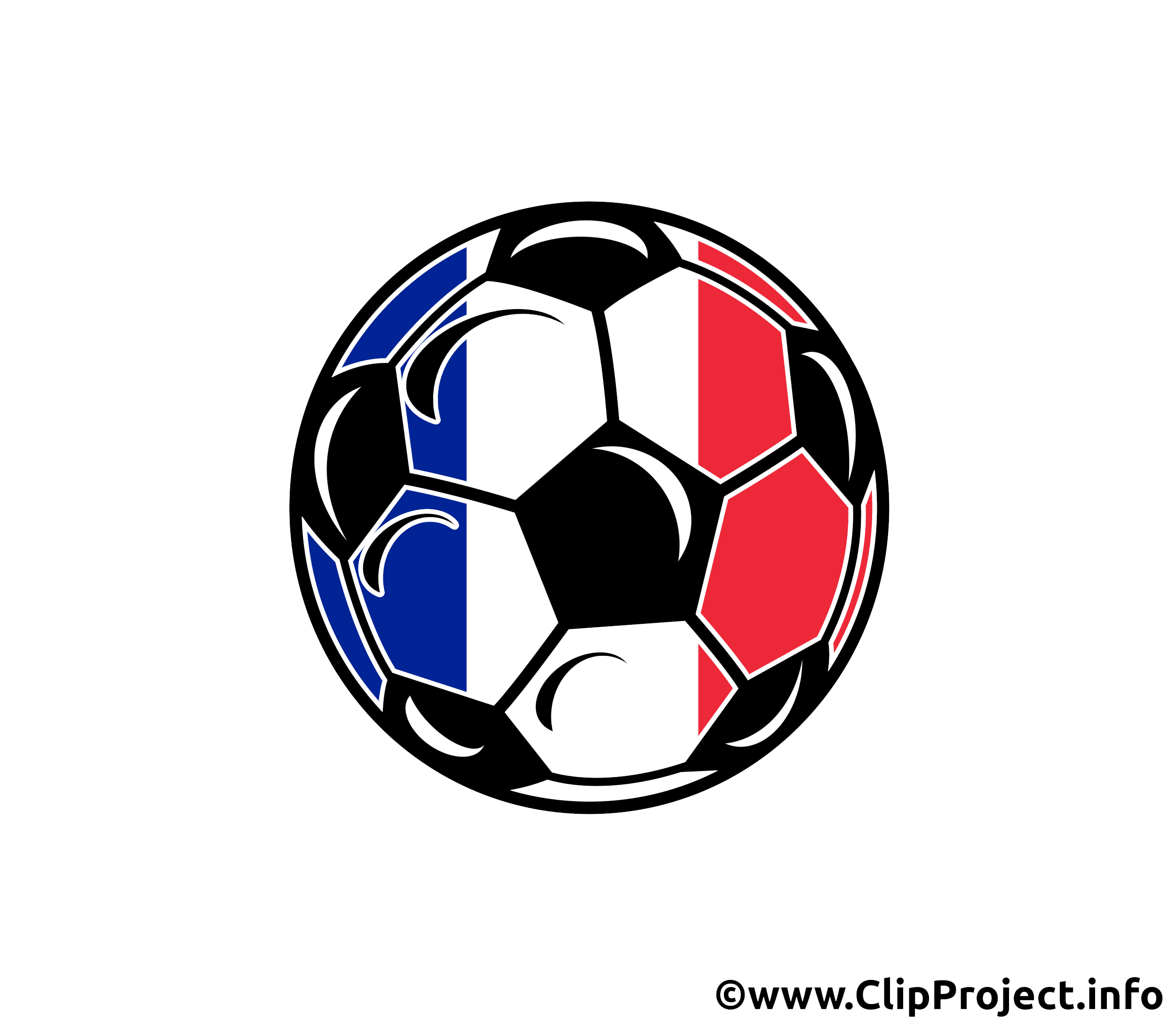 ballon de foot avec des couleurs drapeau fran ais football dessin picture image graphic. Black Bedroom Furniture Sets. Home Design Ideas