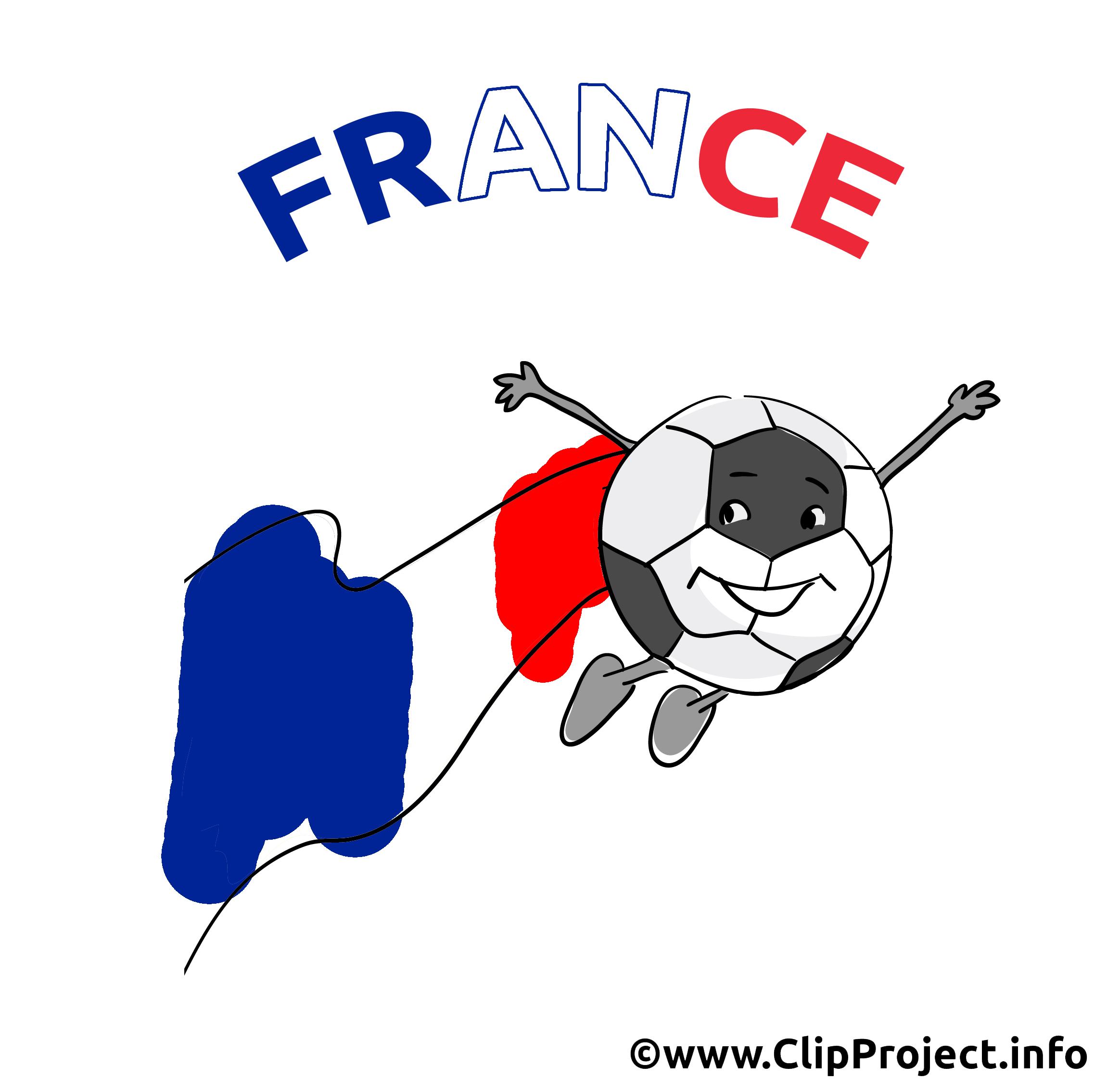 Ballon rond France clipart image gratuit