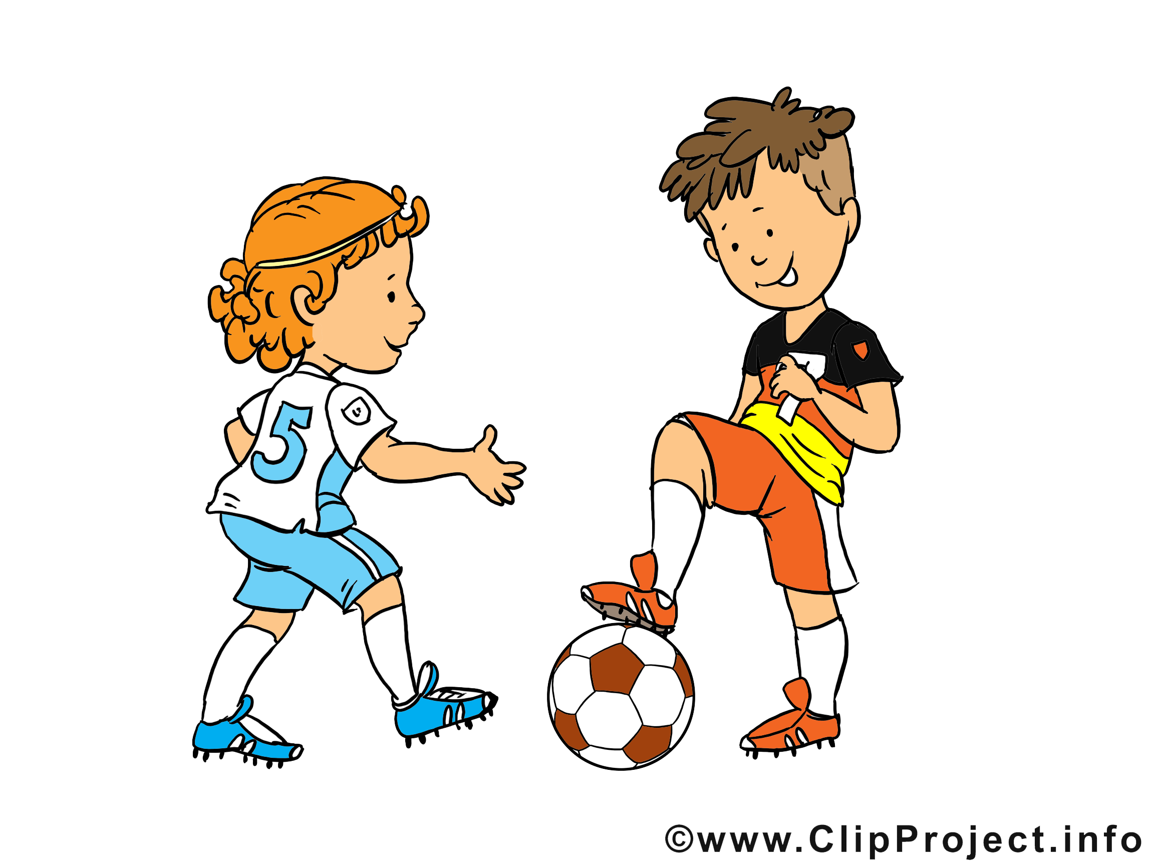 Enfants cliparts gratuis - Football images
