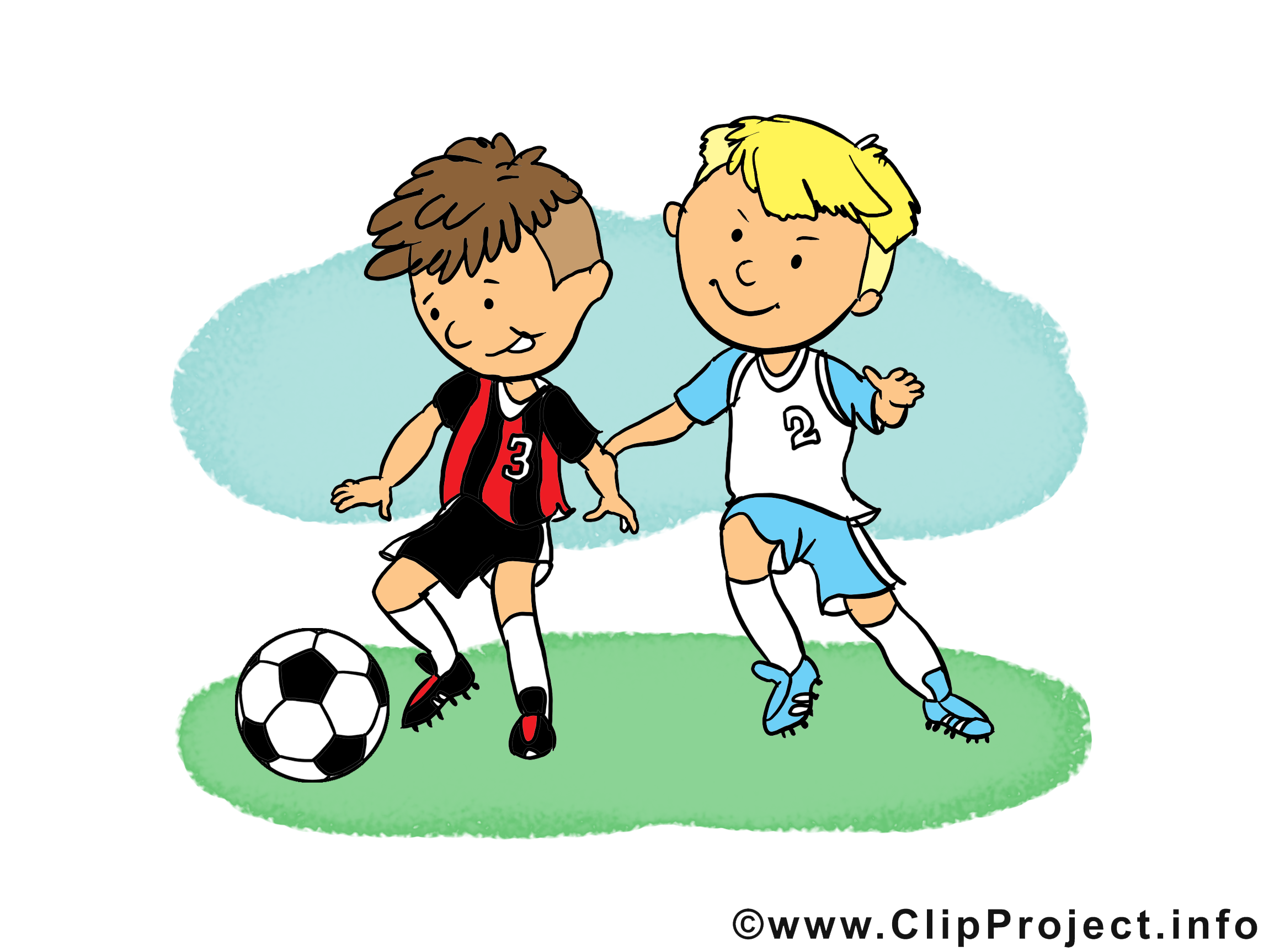 Enfants image gratuite - Football cliparts