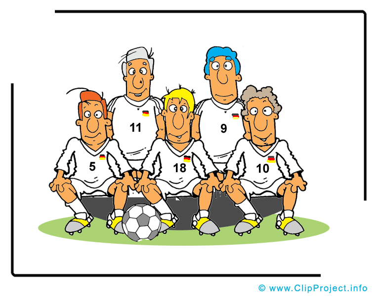 Équipe image - Football images cliparts