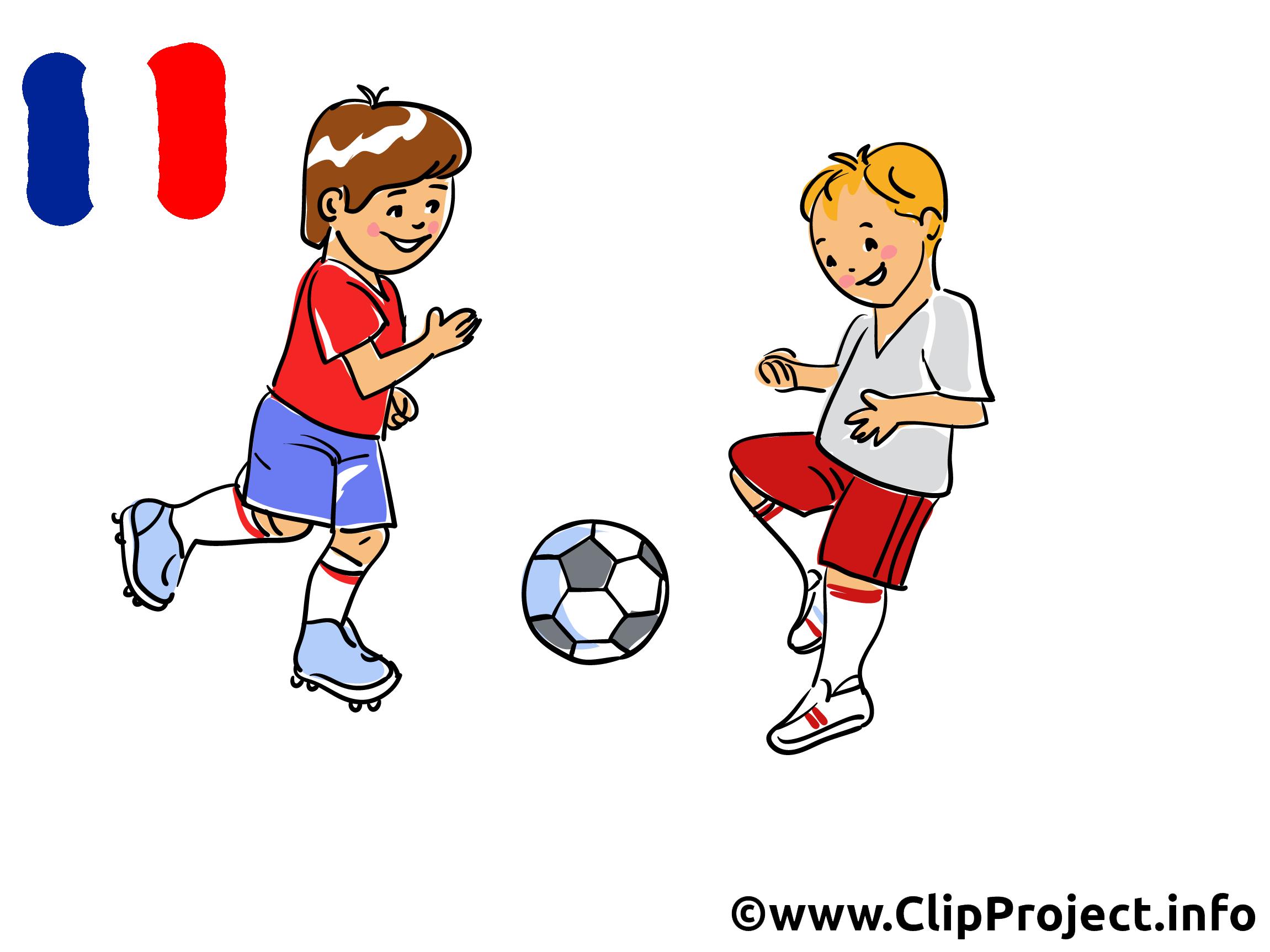 Footballeur clip art image free