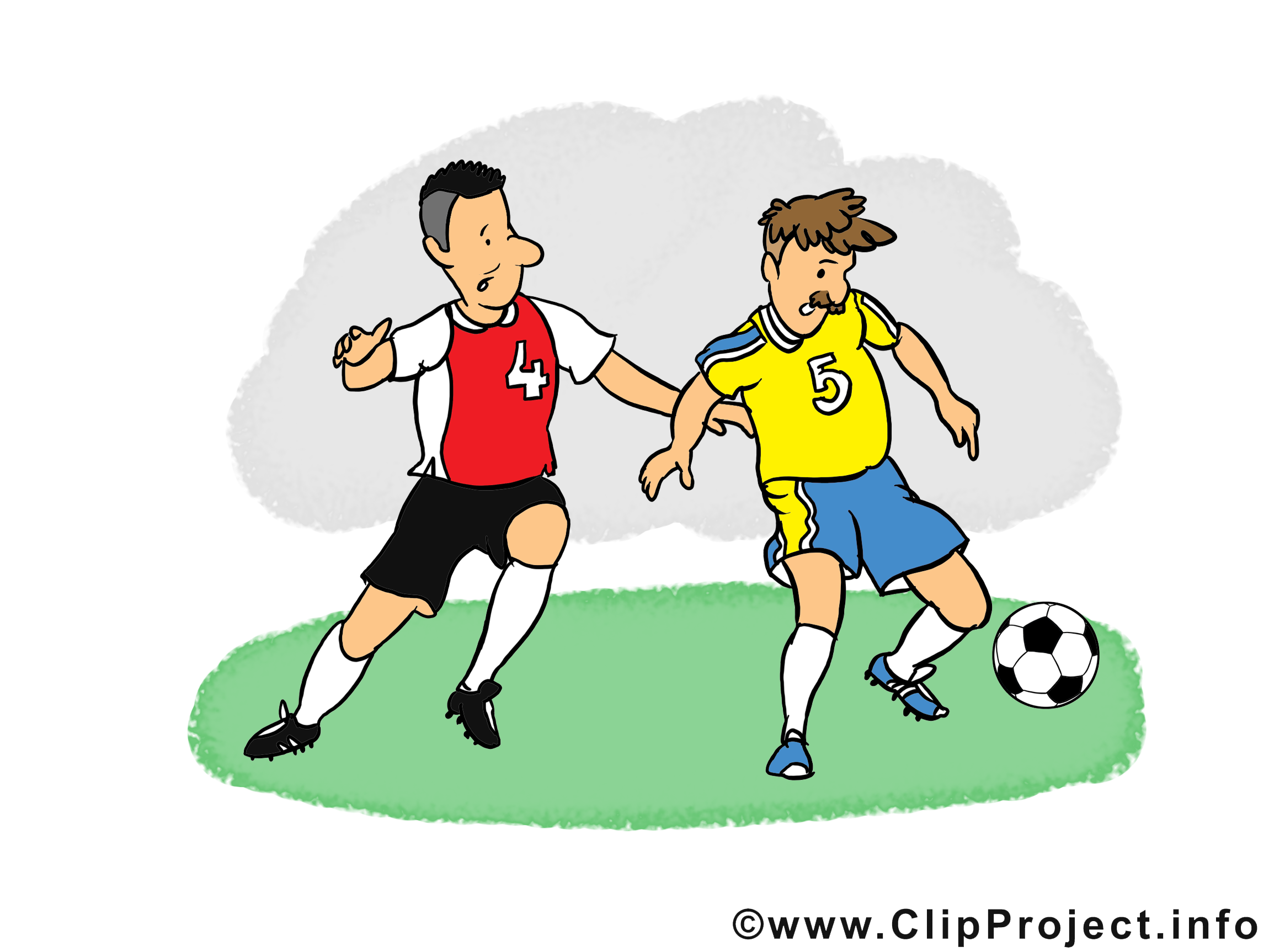 Footballeurs clip arts gratuits - Football illustrations
