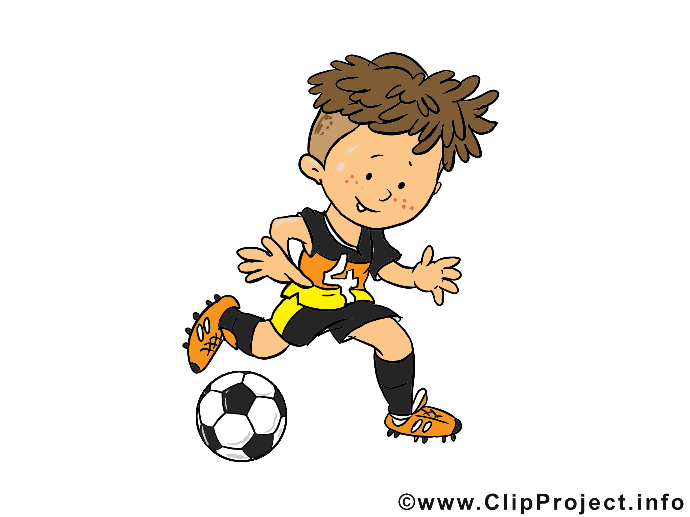 Garçon dessin gratuit - Football image