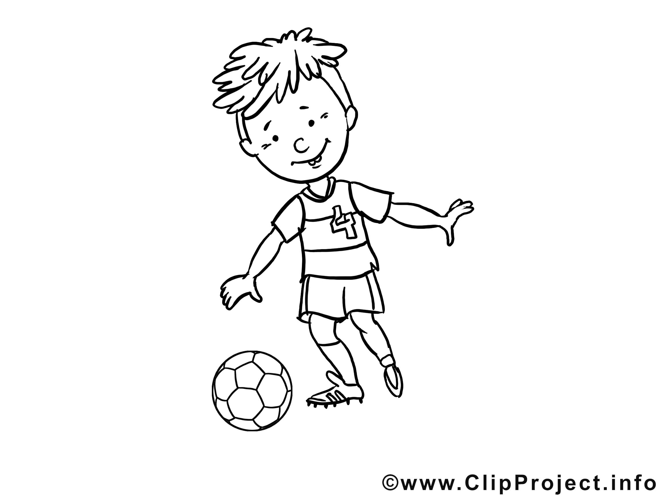 Garçon image à imprimer – Football clipart