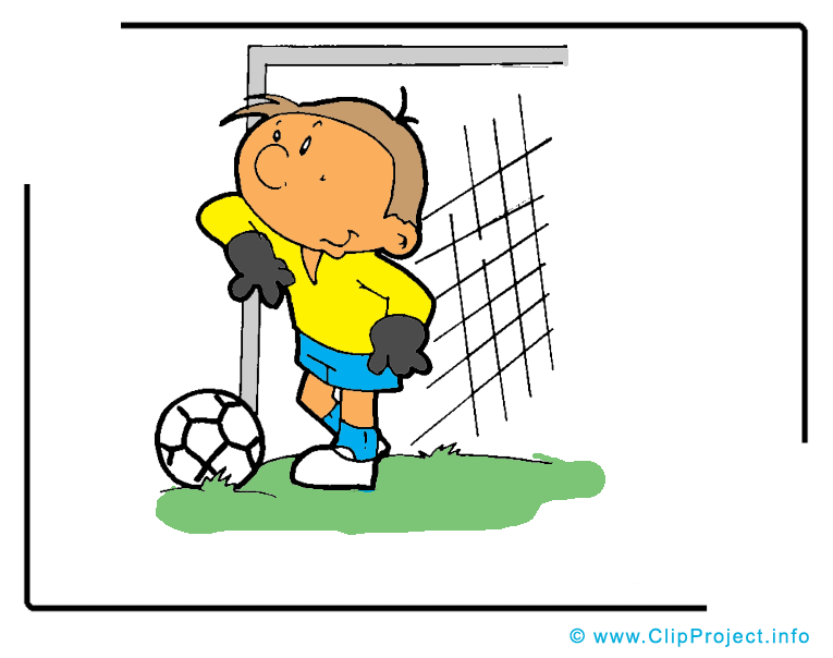 Gardien de but clipart gratuit - Football images