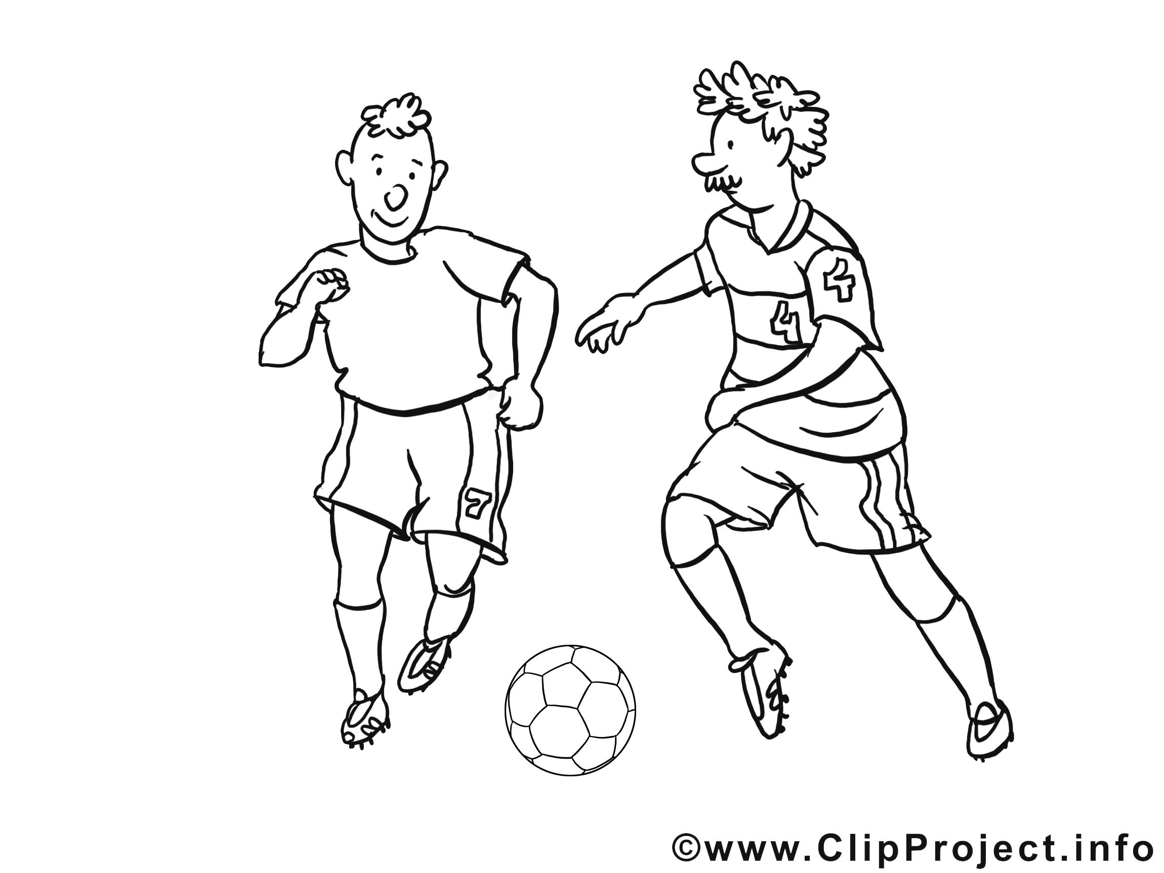 Joueurs clip art à colorier – Football images