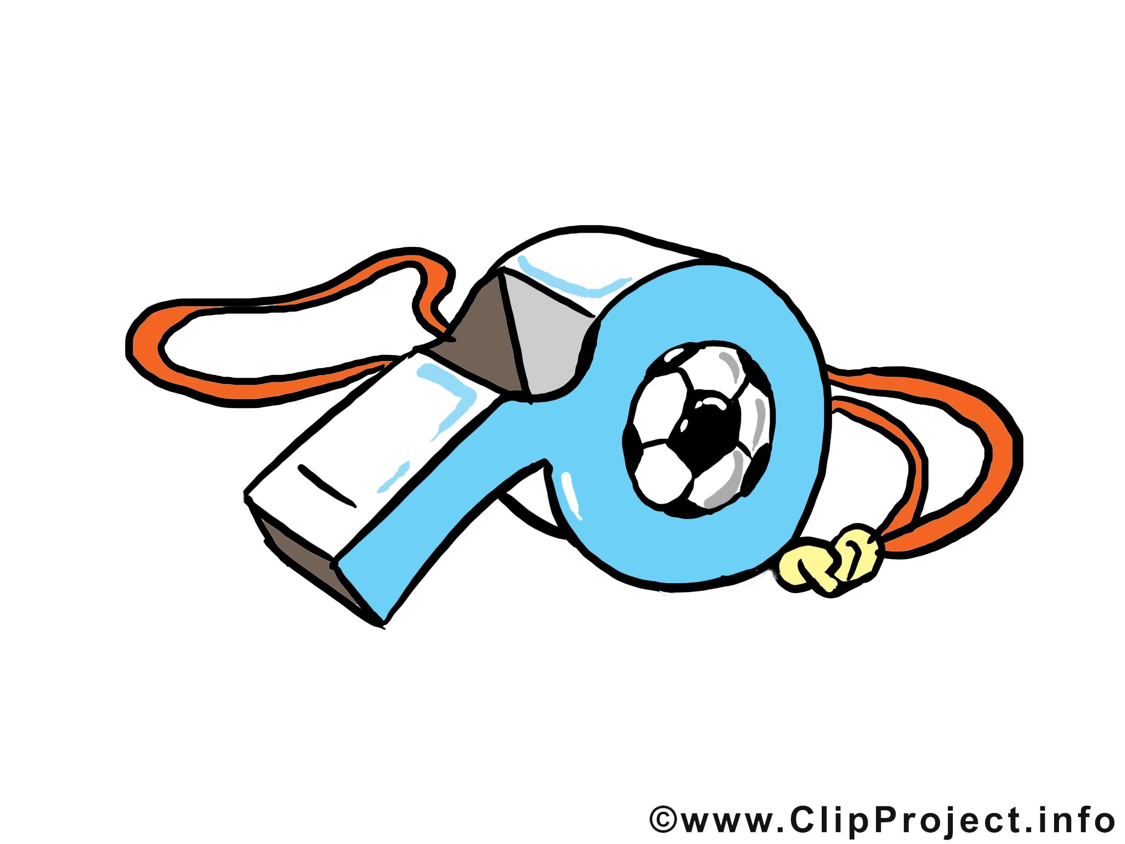 Sifflet clipart gratuit - Football images