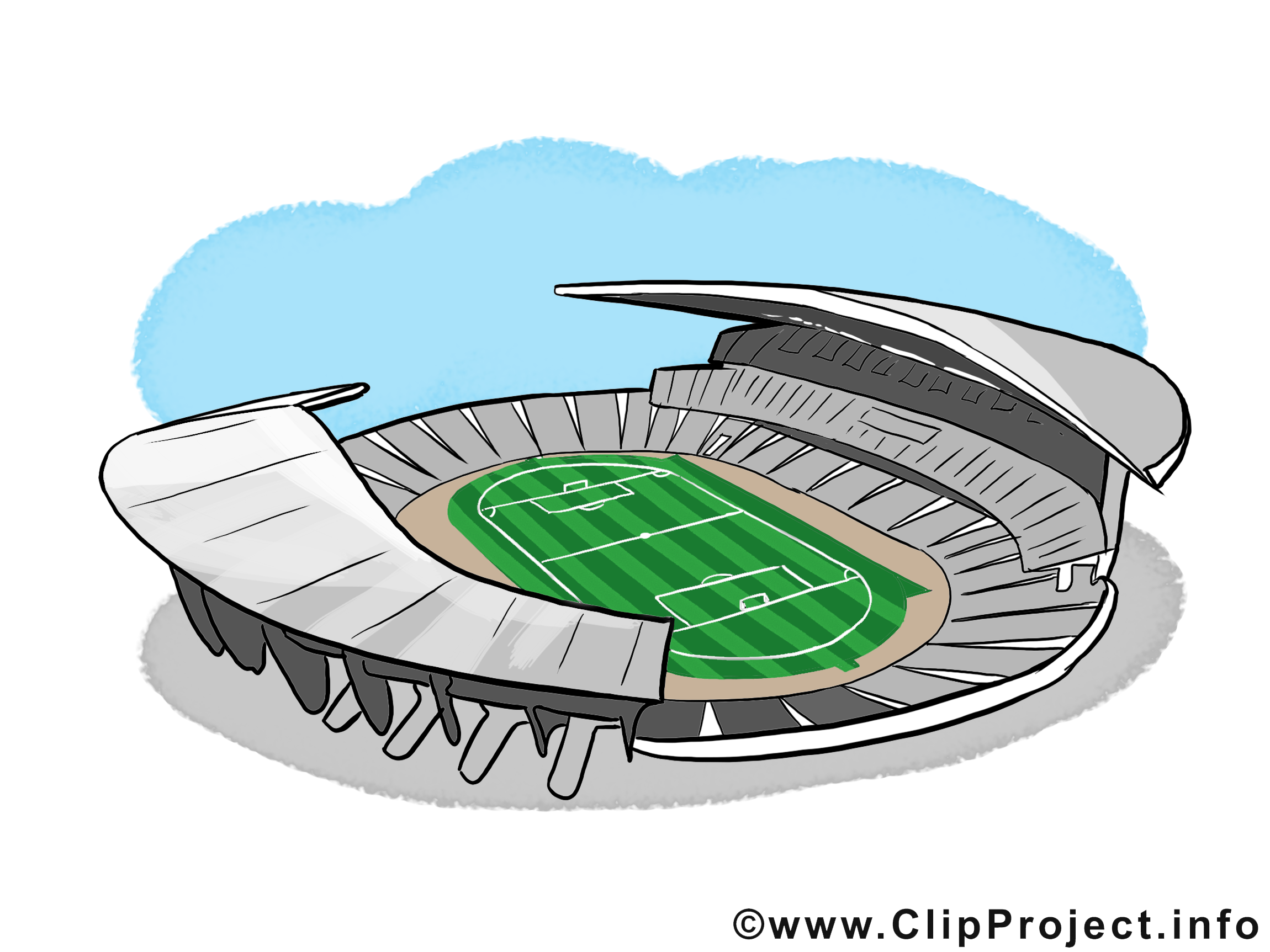 Stade image gratuite - Football illustration