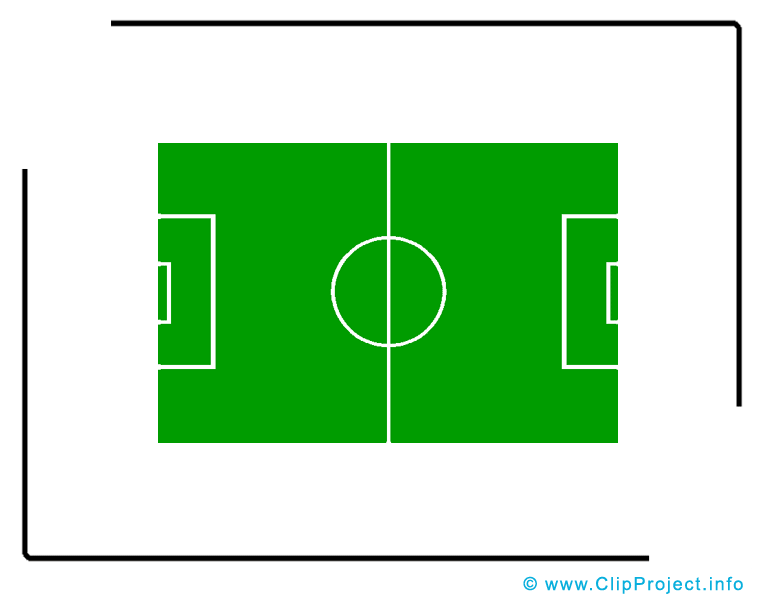 Terrain dessin - Football clip arts gratuits
