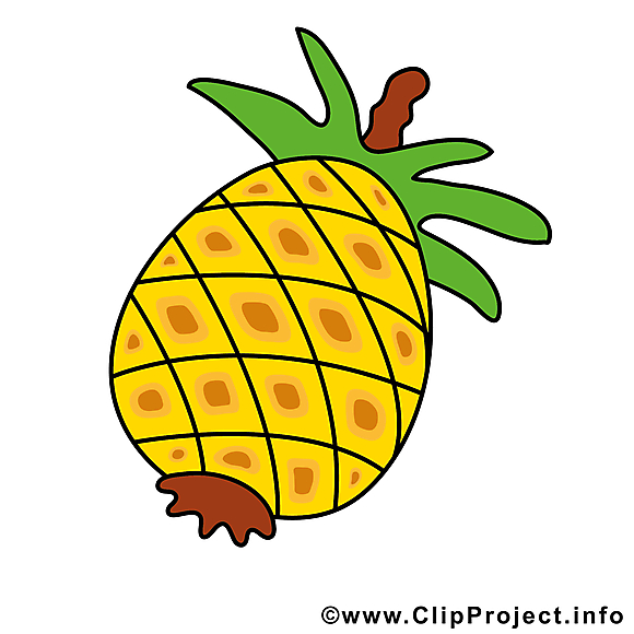 Ananas clip art gratuit - Fruits dessin