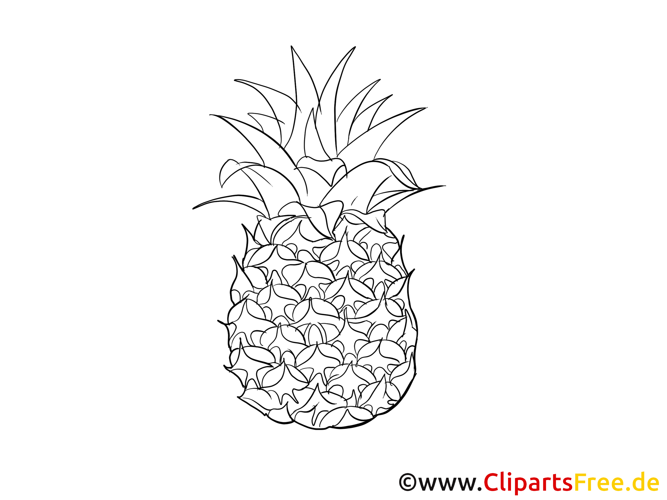 Ananas Images A Colorier