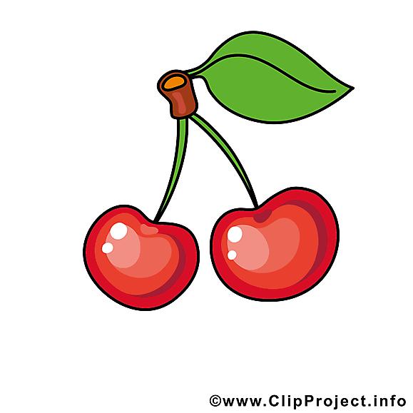 Cerises clipart gratuit - Fruits images