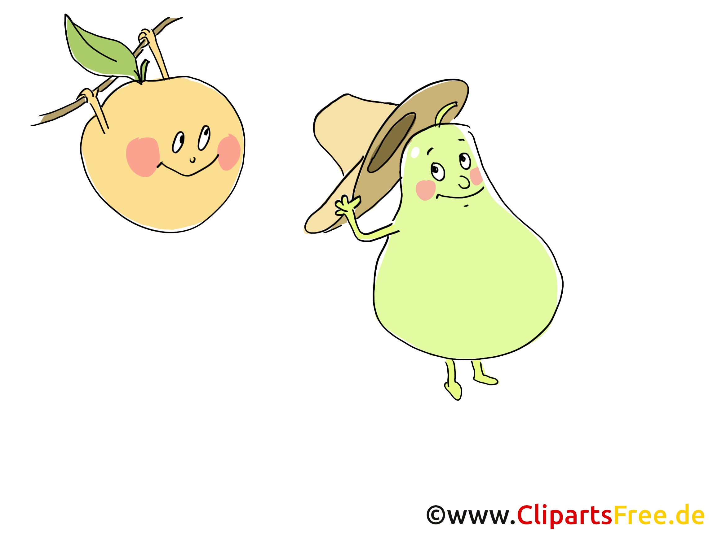Clip art gratuit fruits dessin à télécharger