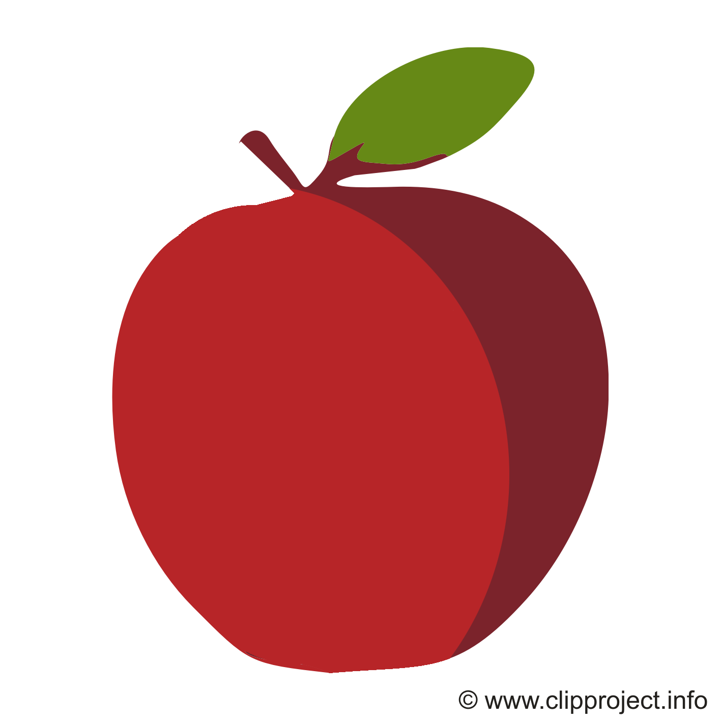 Cliparts pomme gratuis - Fruits images