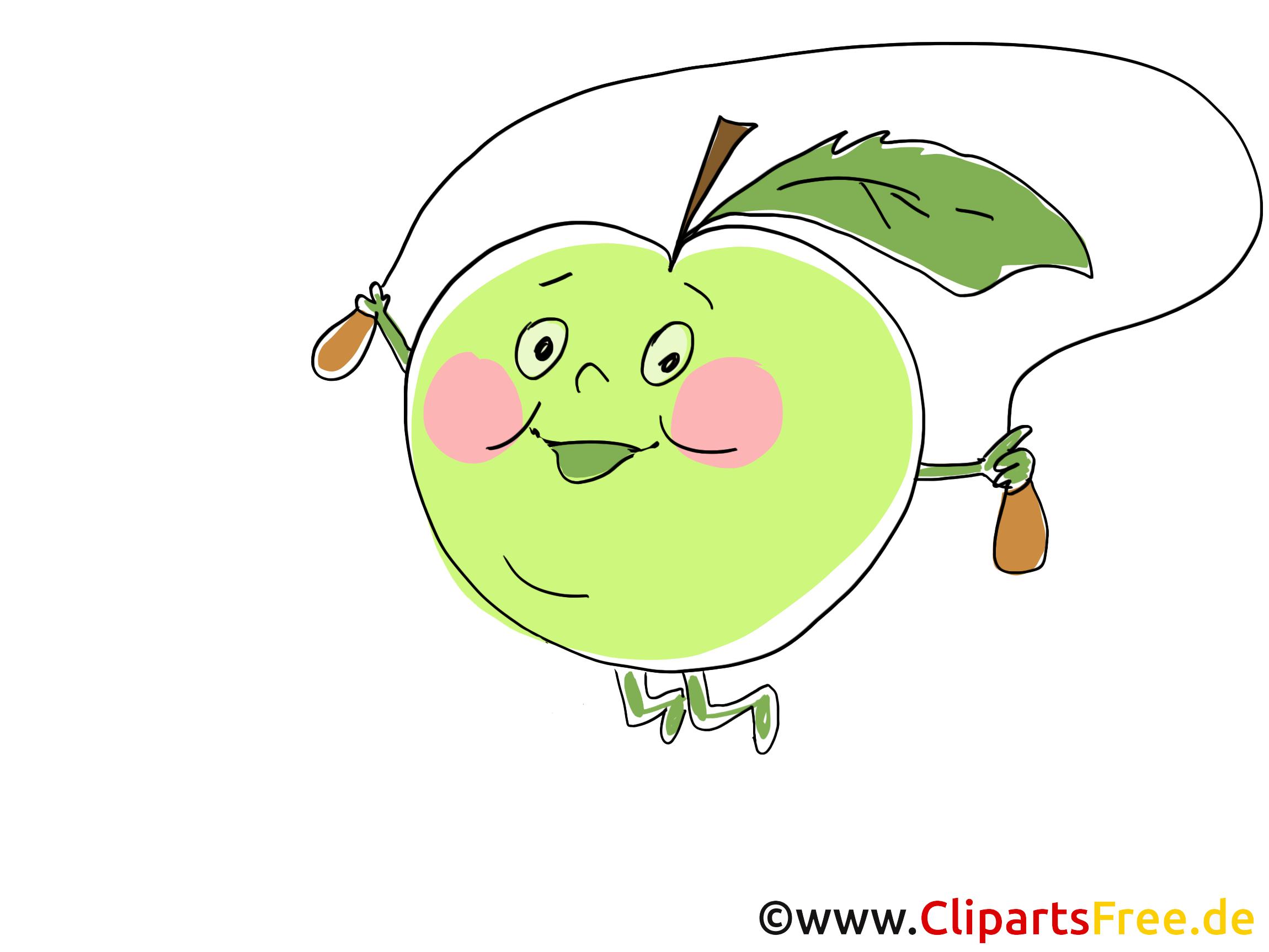 Dessin pomme - Fruits cliparts à télécharger