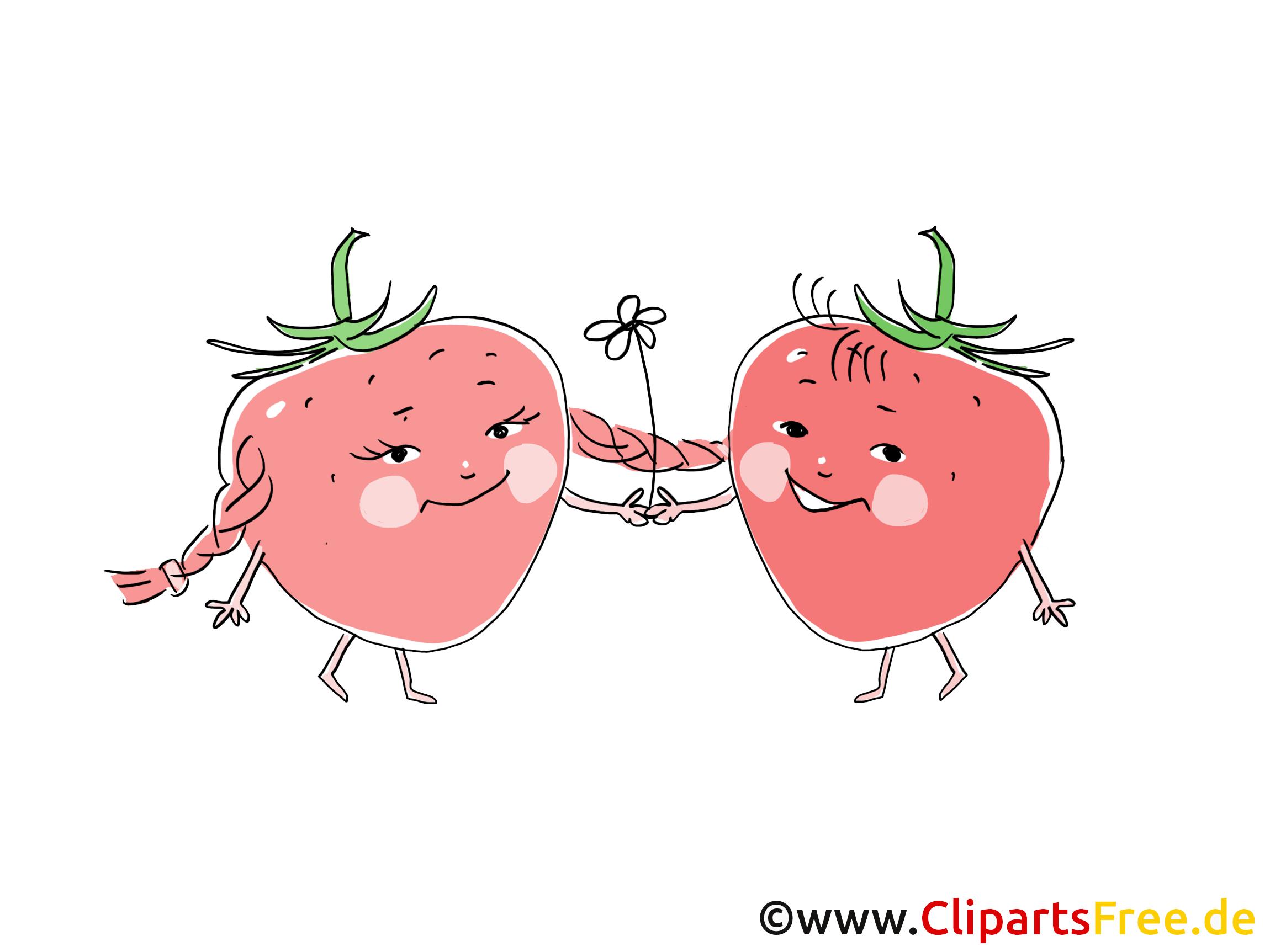 Fraises cliparts gratuis - Fruits images