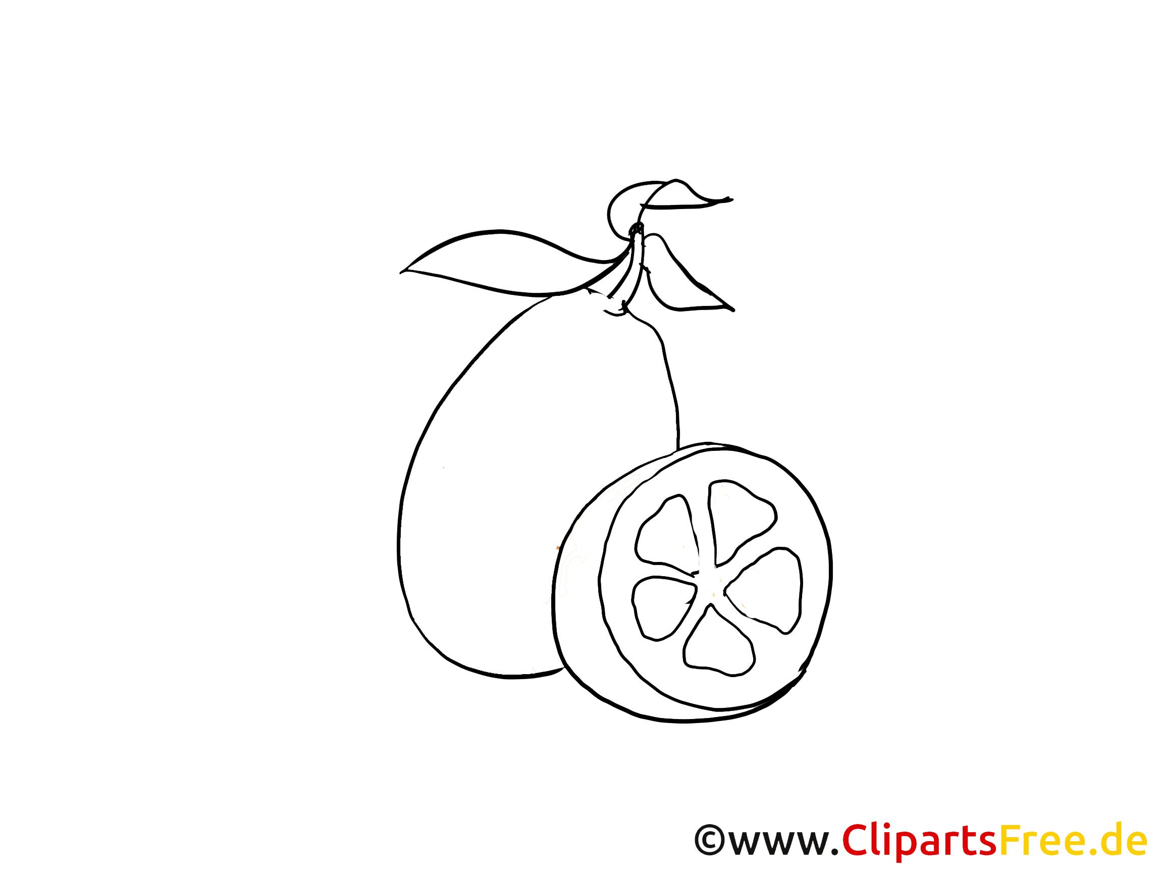 Fruits citron illustration à imprimer gratuite
