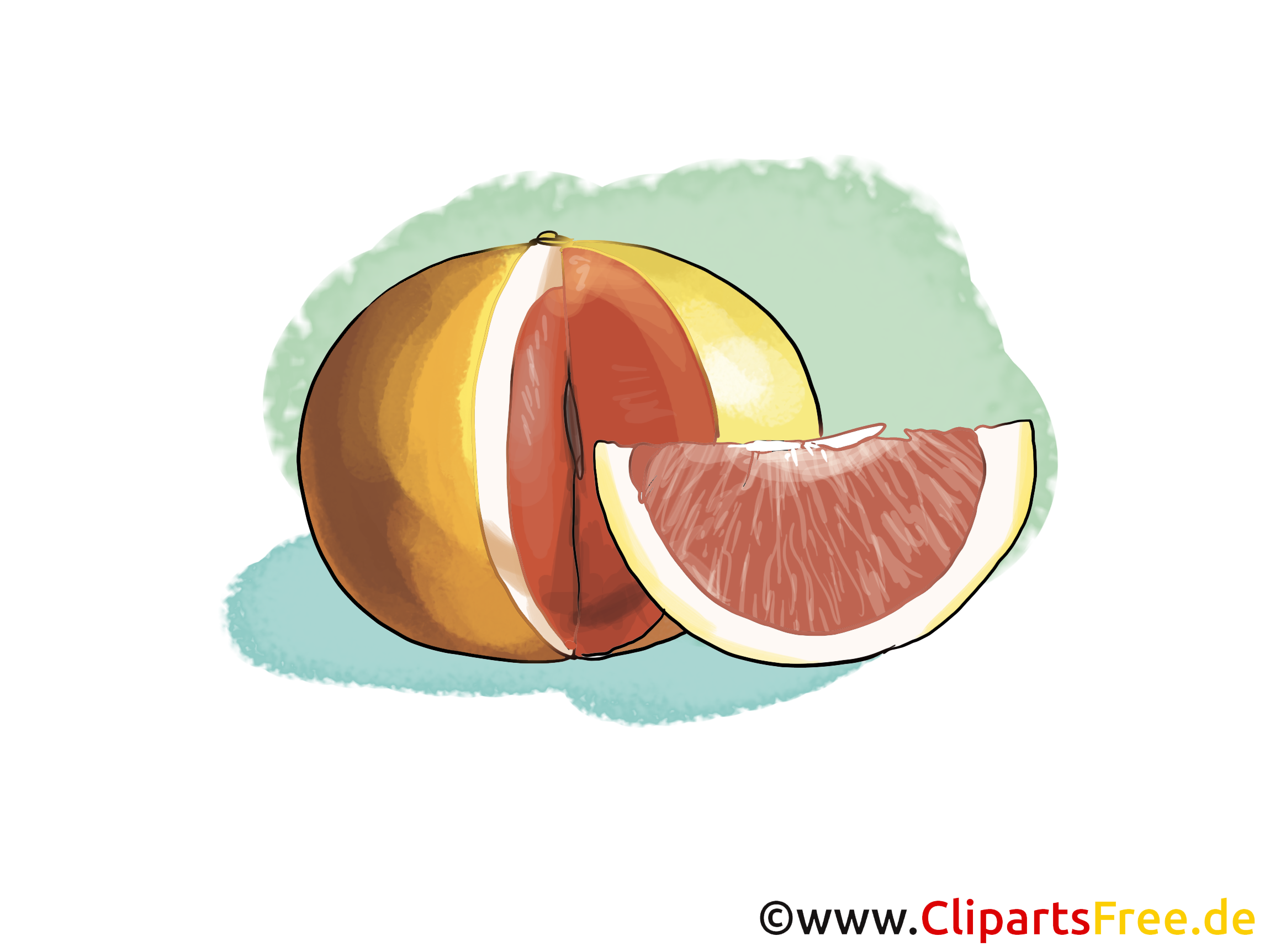 Orange sanguine clip art gratuit – Fruits images
